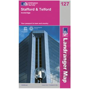 ORDNANCE SURVEY Landranger 127 Stafford & Telford Map