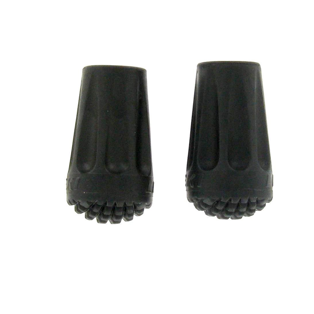 Leki 2 Pack Rubber Walking Pole Tips - Black/asso  Black/asso