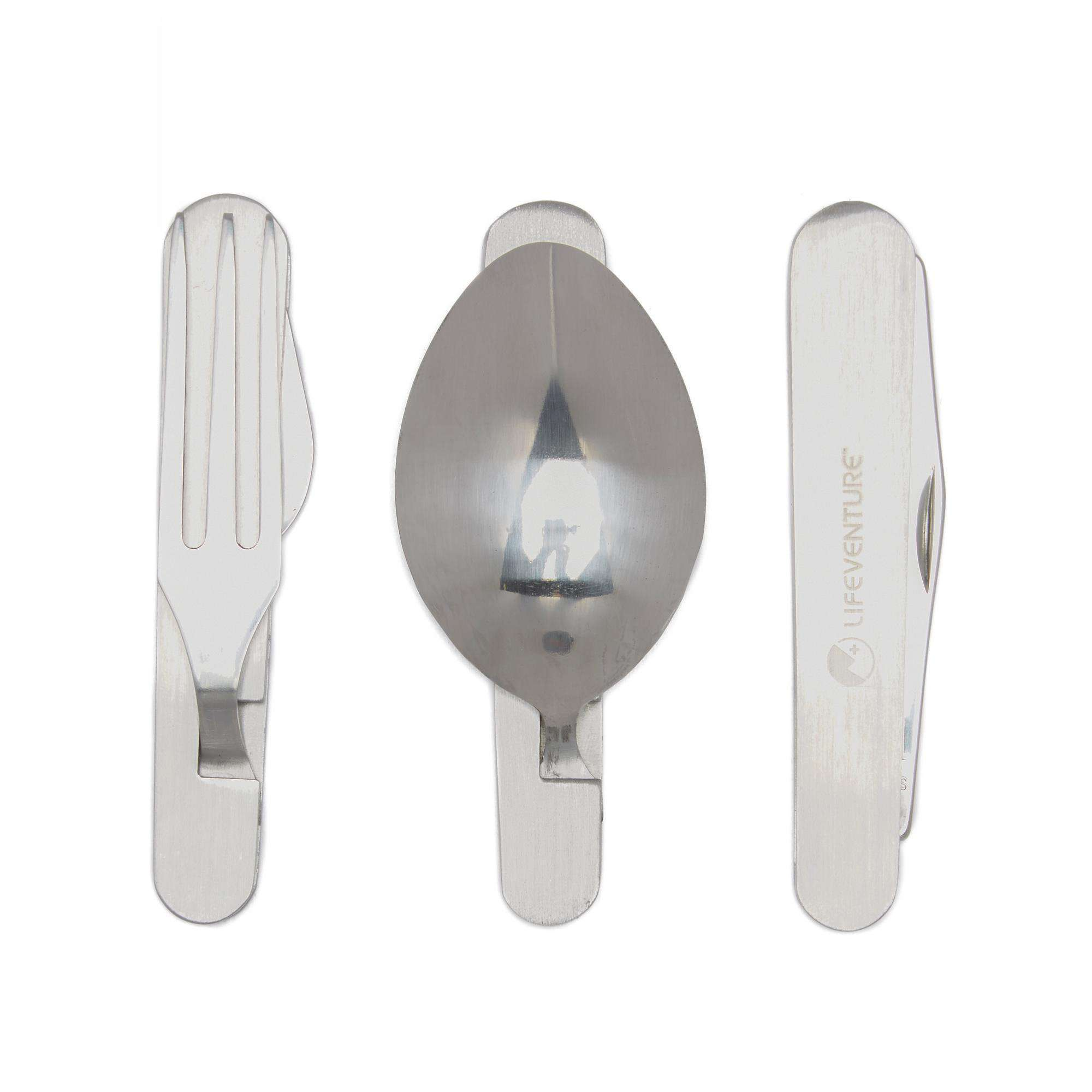 LIFEVENTURE Knife, Fork, Spoon - Folding Cutlery Set