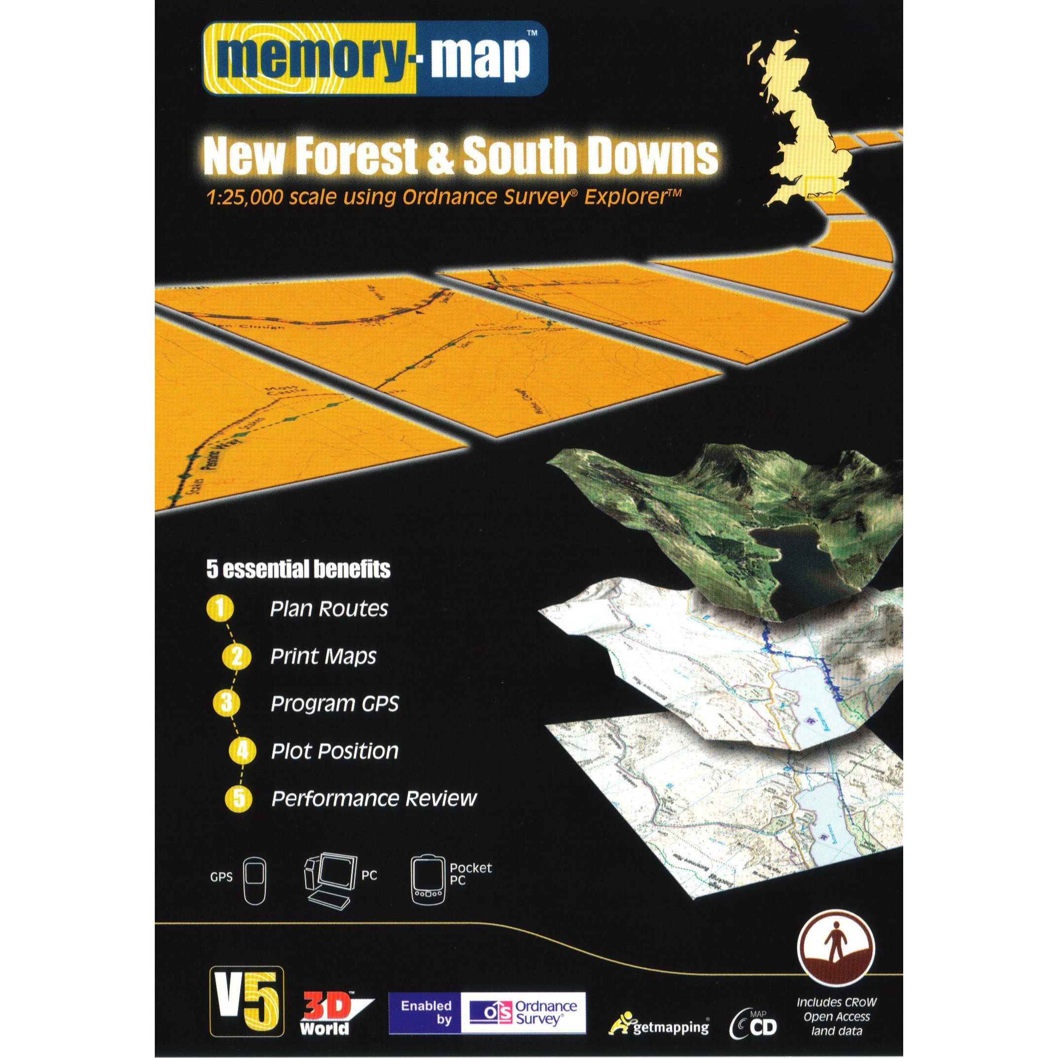 MEMORY MAP Explorer New Forest and South Downs CD ROM