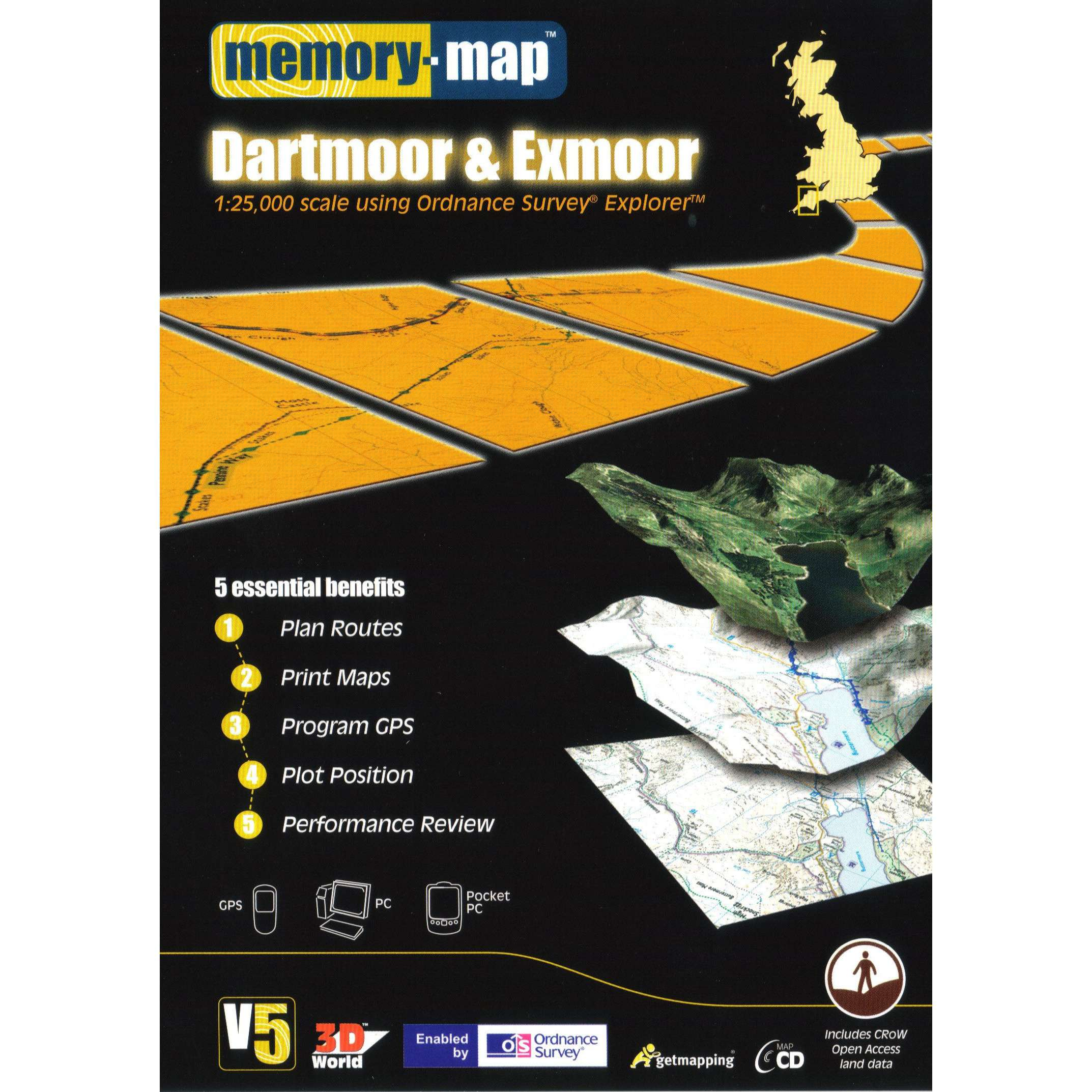 MEMORY MAP OS Explorer Dartmoor & Exmoor