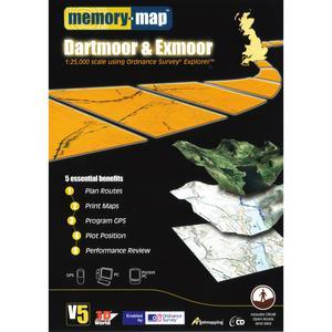 MEMORY MAP OS Explorer Dartmoor & Exmoor
