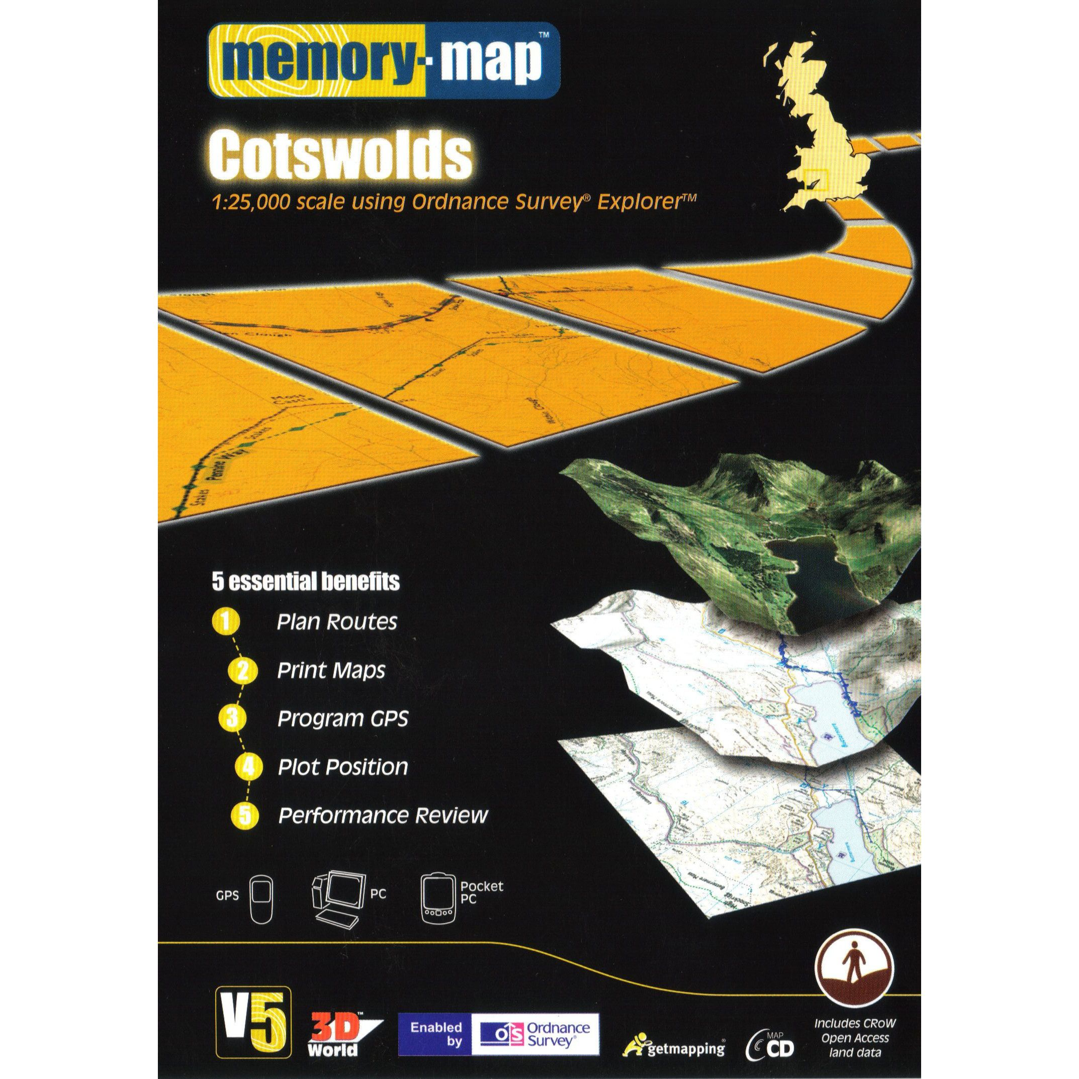 MEMORY MAP Explorer Cotswolds CD ROM