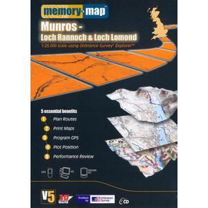 MEMORY MAP Explorer Loch Rannoch and Loch Lomond CD ROM