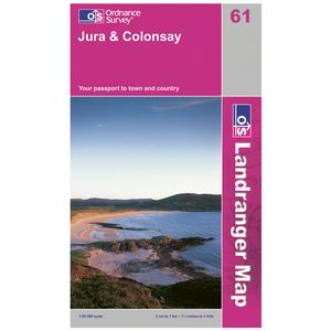 ORDNANCE SURVEY Landranger 61 Jura & Colonsay Map