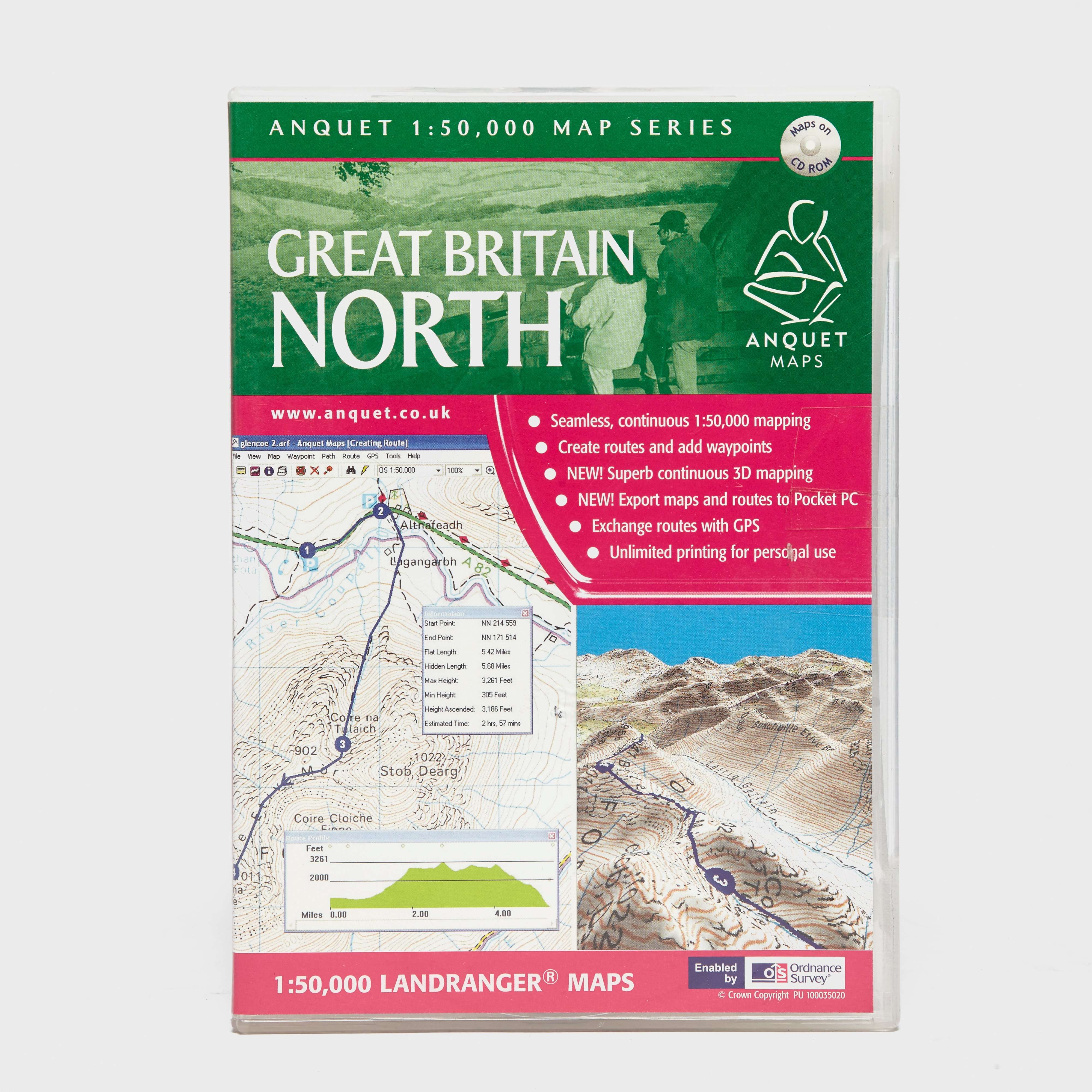 ANQUET Great Britain North 1:50,000 Map