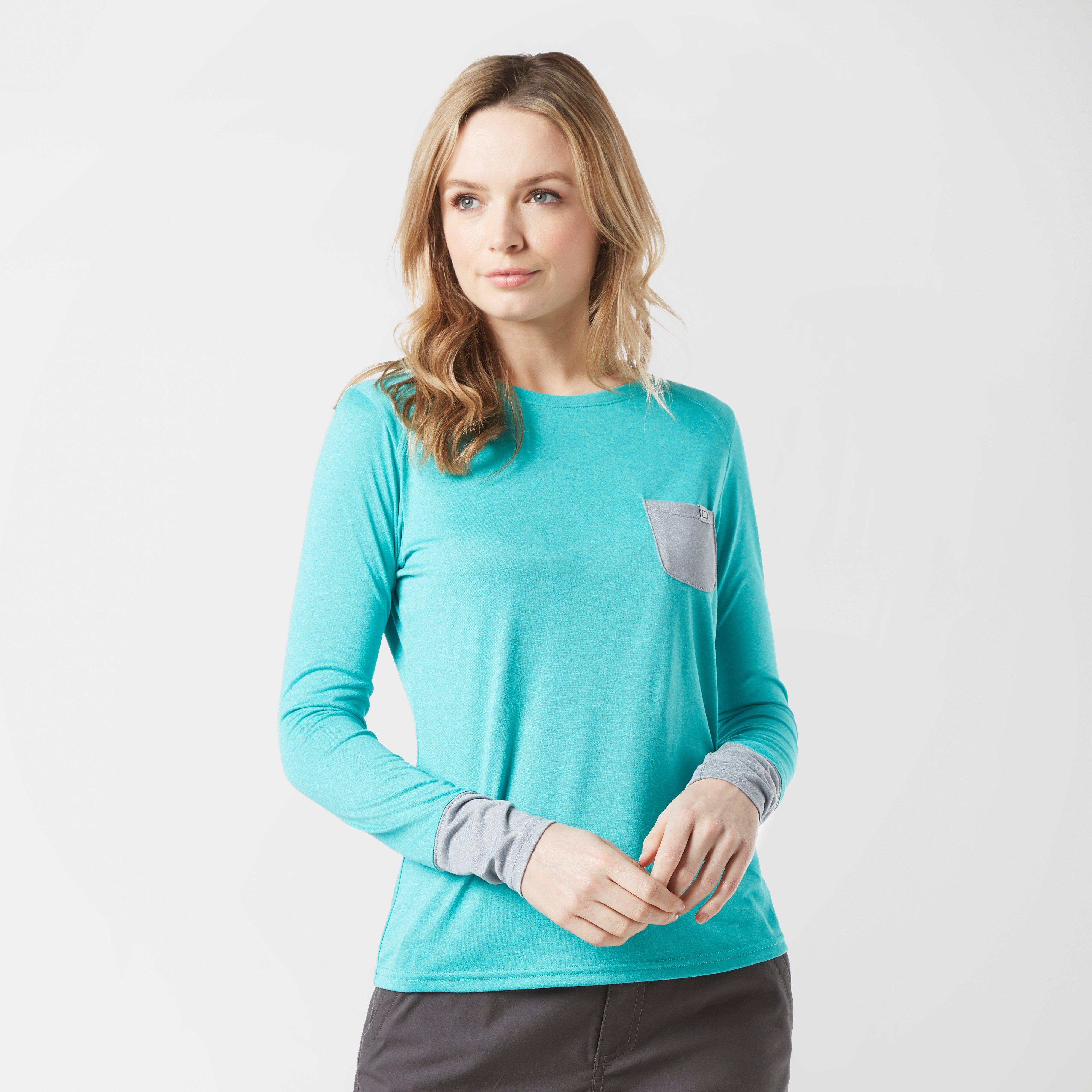Berghaus Womens Explorer Tech Long Sleeve T-shirt - Blue  Blue