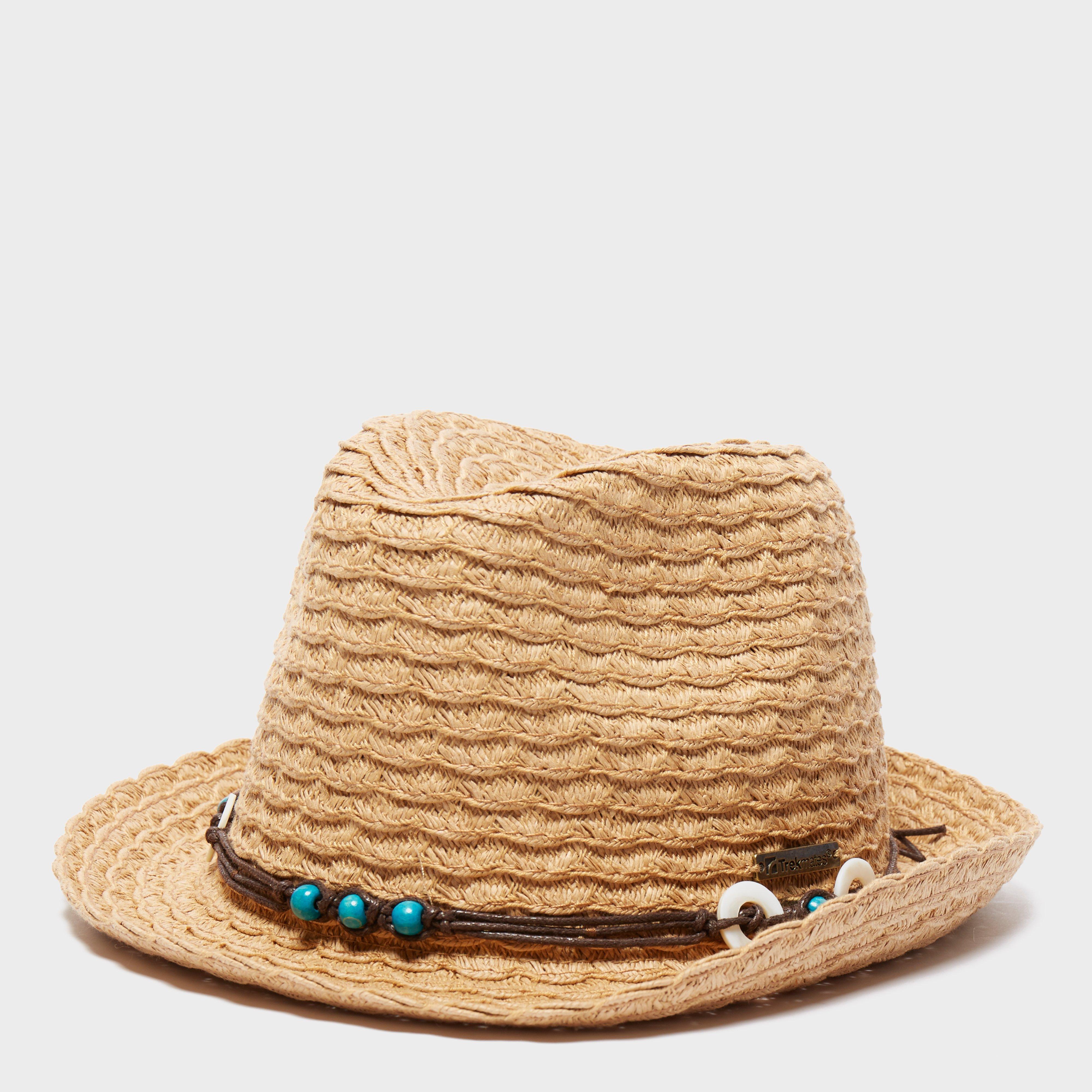 Trekmates Women's Straw Hat, Brown