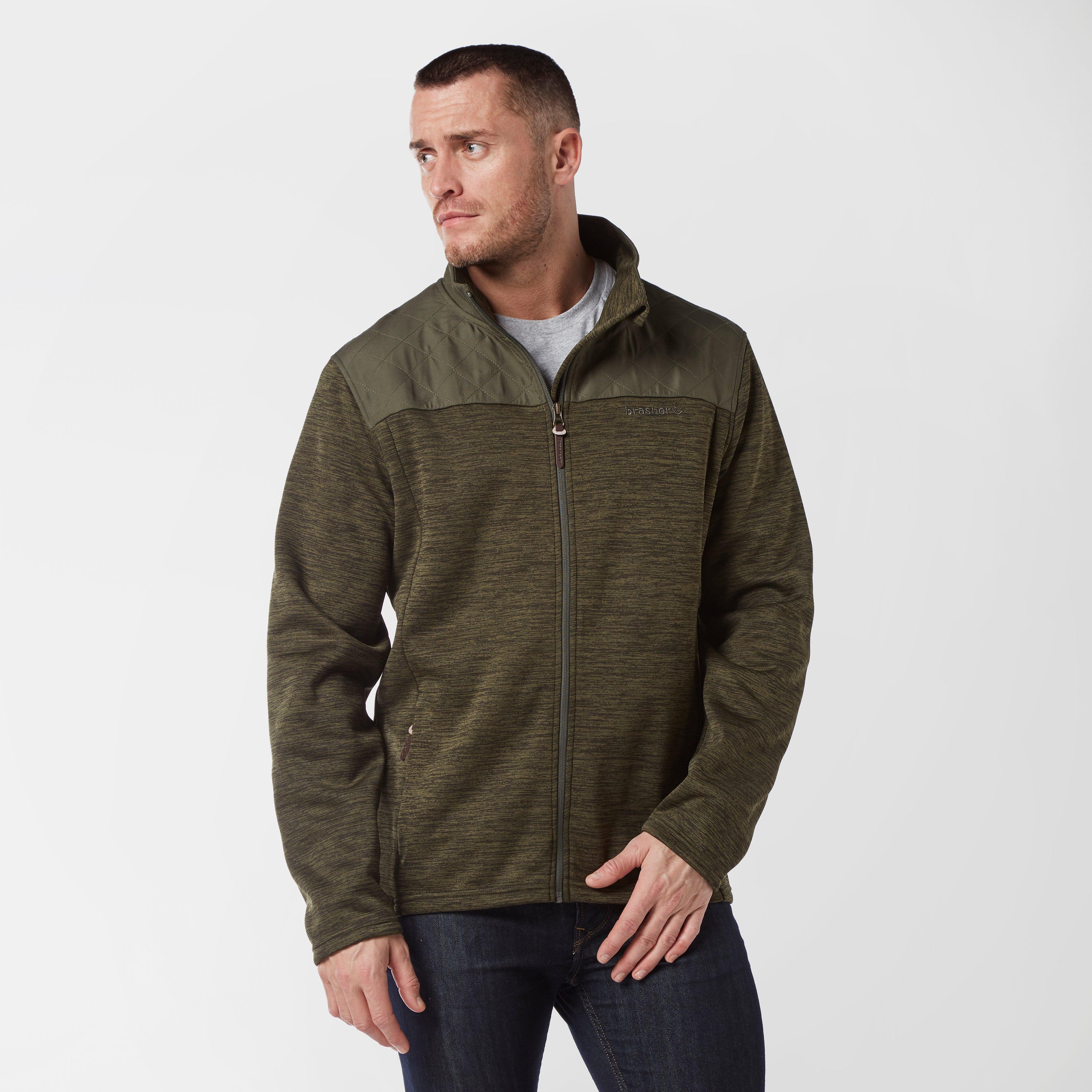 Brasher Mens Quilted Fleece - Khaki/brn  Khaki/brn