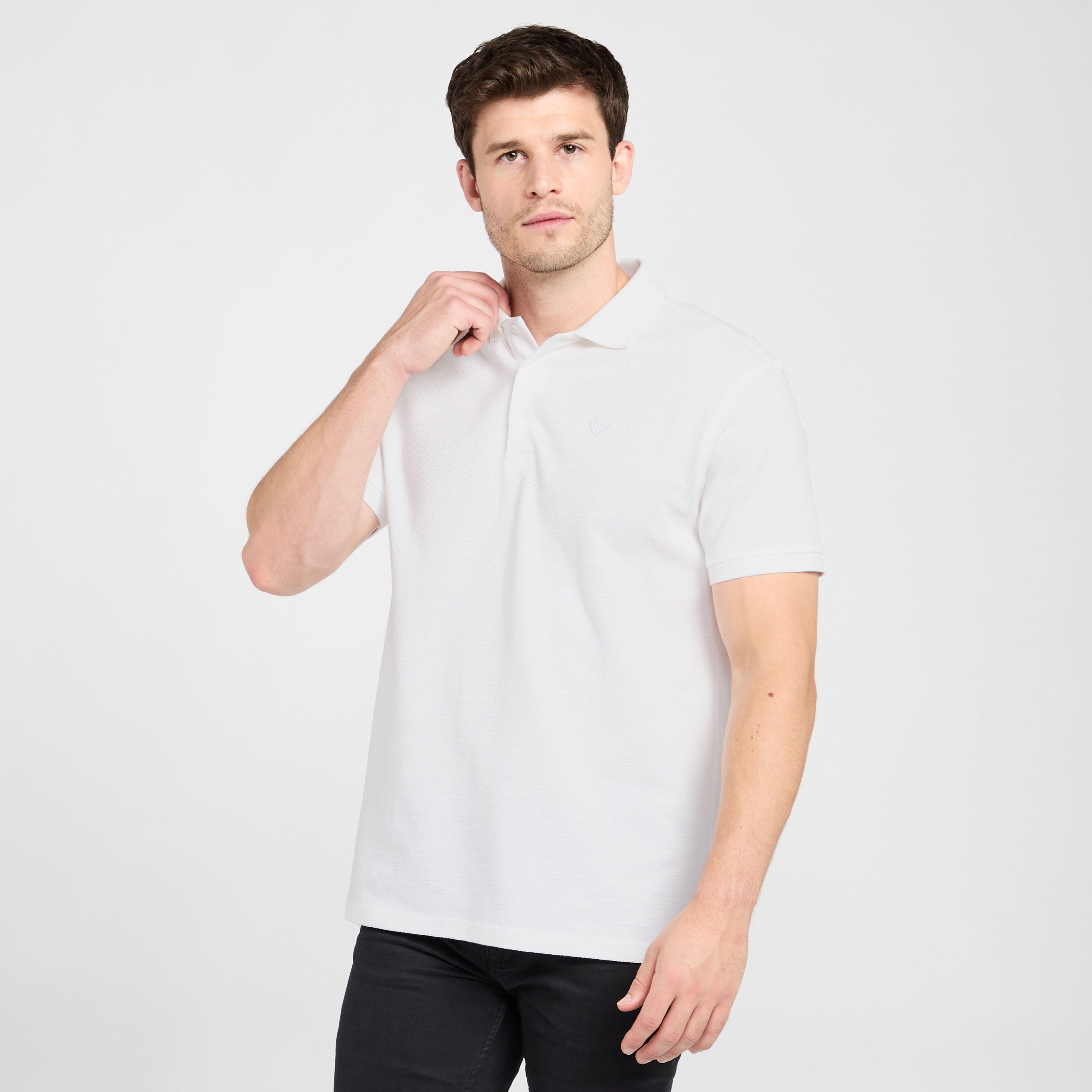 Brasher Mens Polo Shirt - White/wht  White/wht