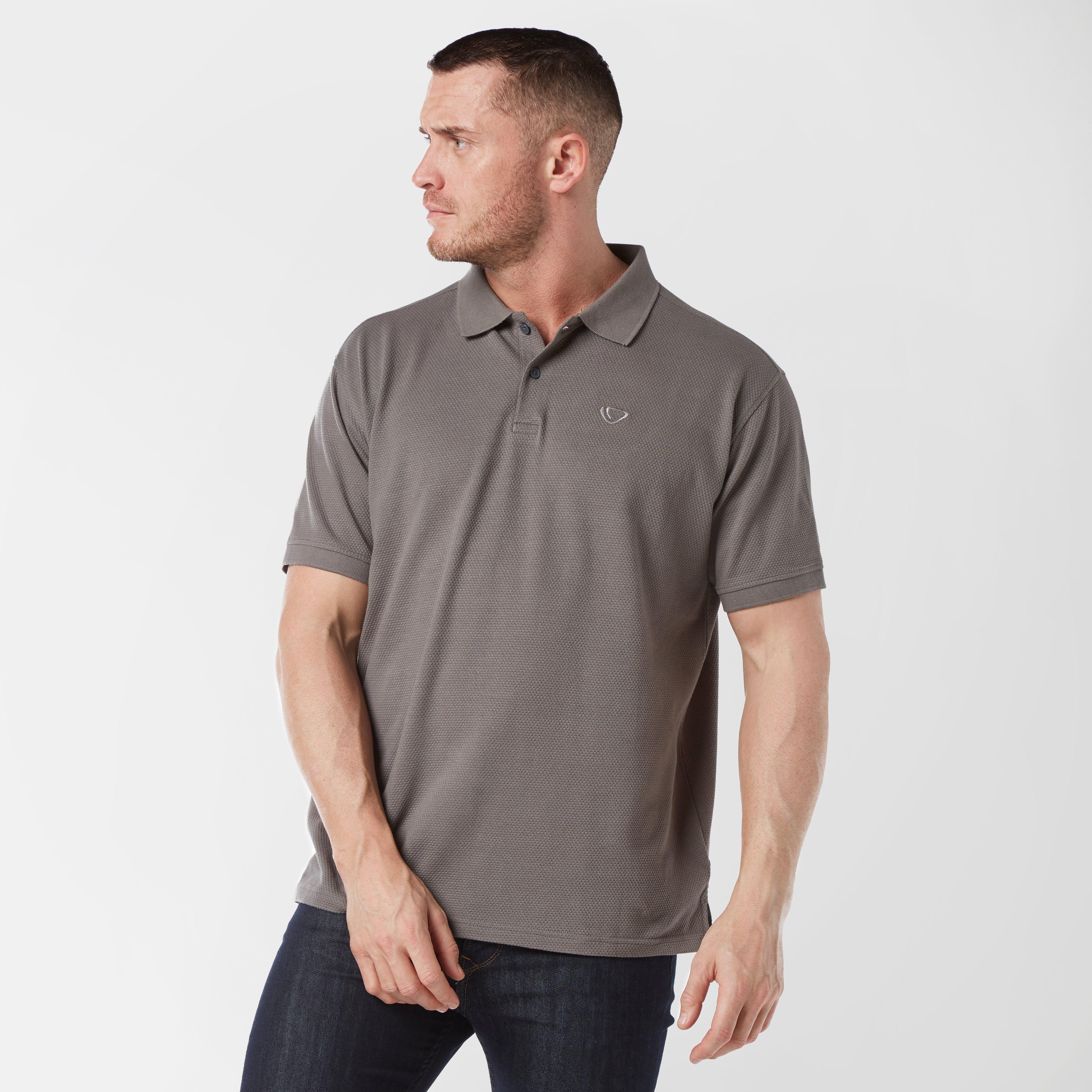 Brasher Mens Polo Shirt - Grey/dgy  Grey/dgy