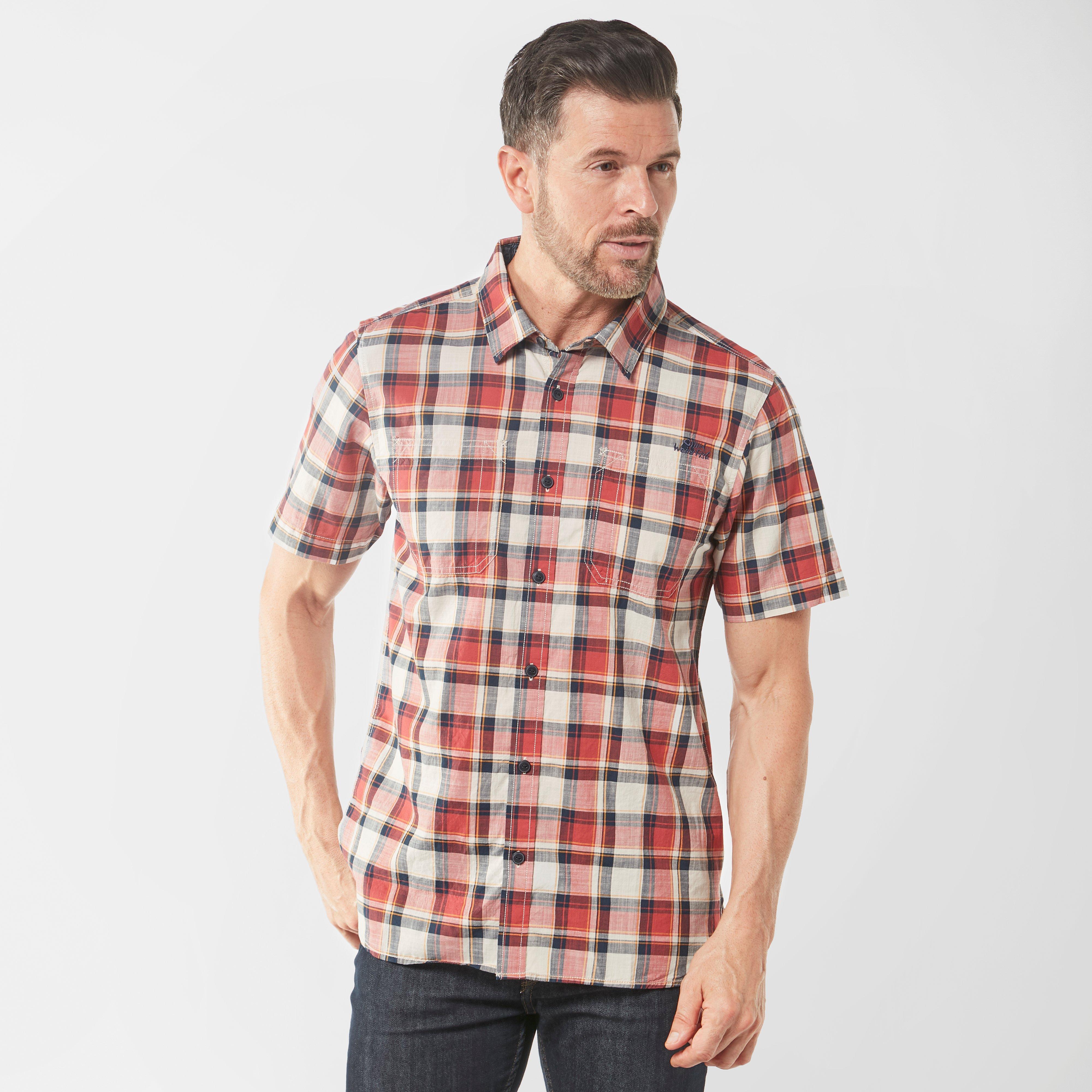 Weird Fish Mens Clane Slub Check Short Sleeve Shirt - Drd/drd  Drd/drd