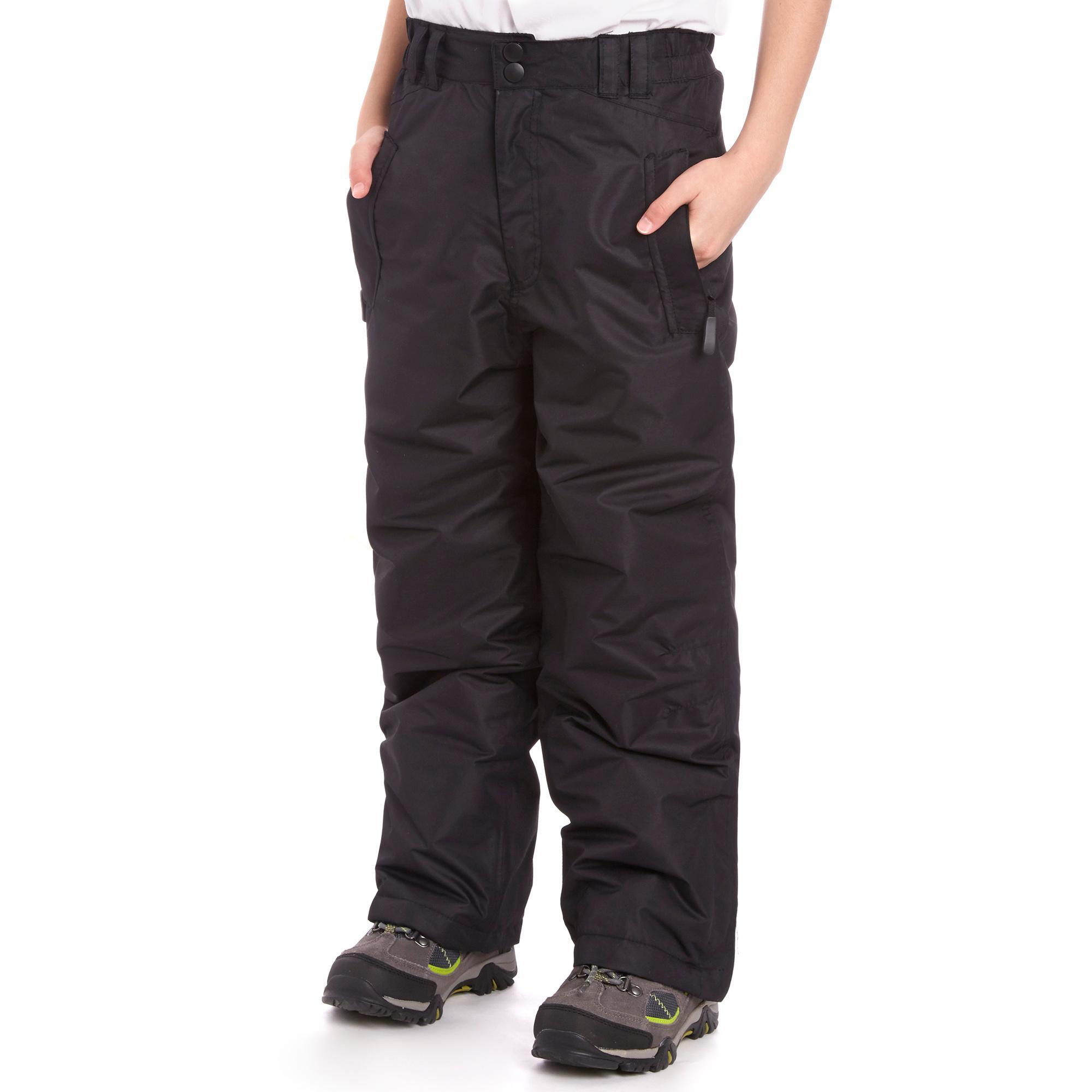 Alpine Boy's Ski Pants, Black