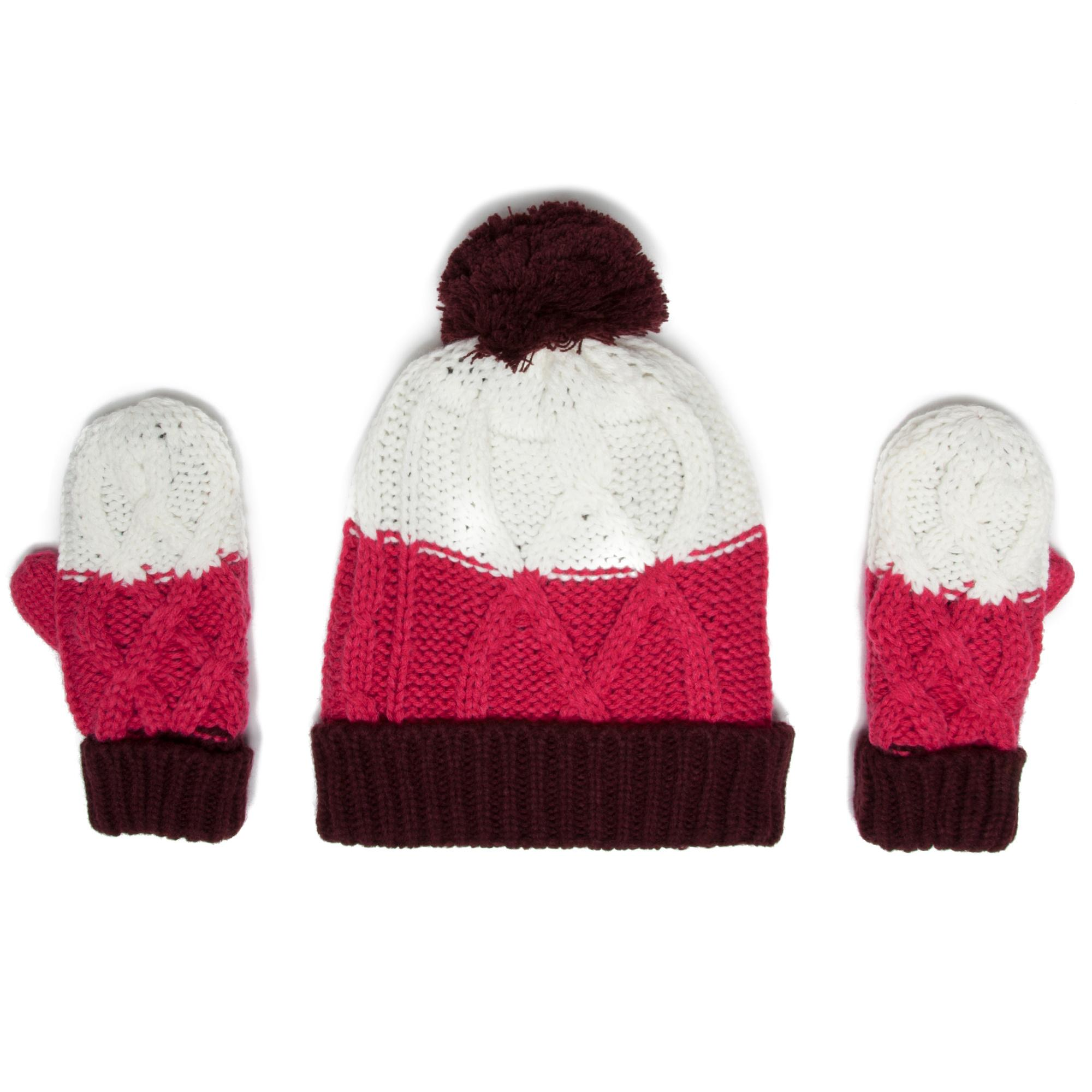 Peter Storm Girls Hat and Glove Set Multi