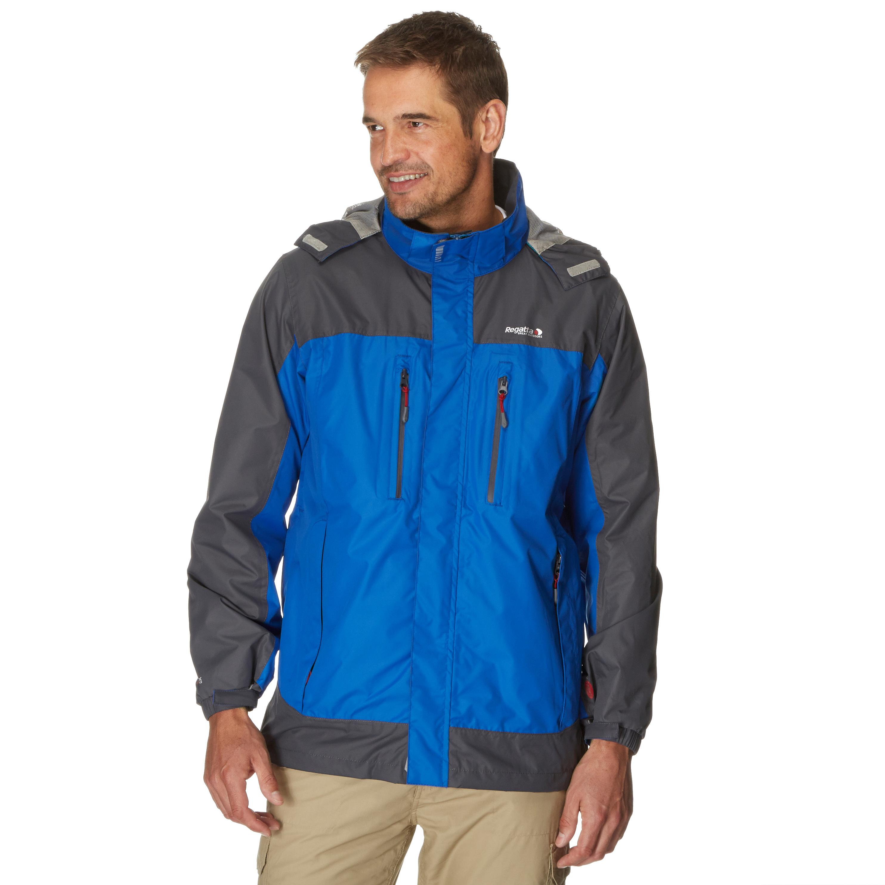 Regatta Mens Calderdale Waterproof Jacket Blue