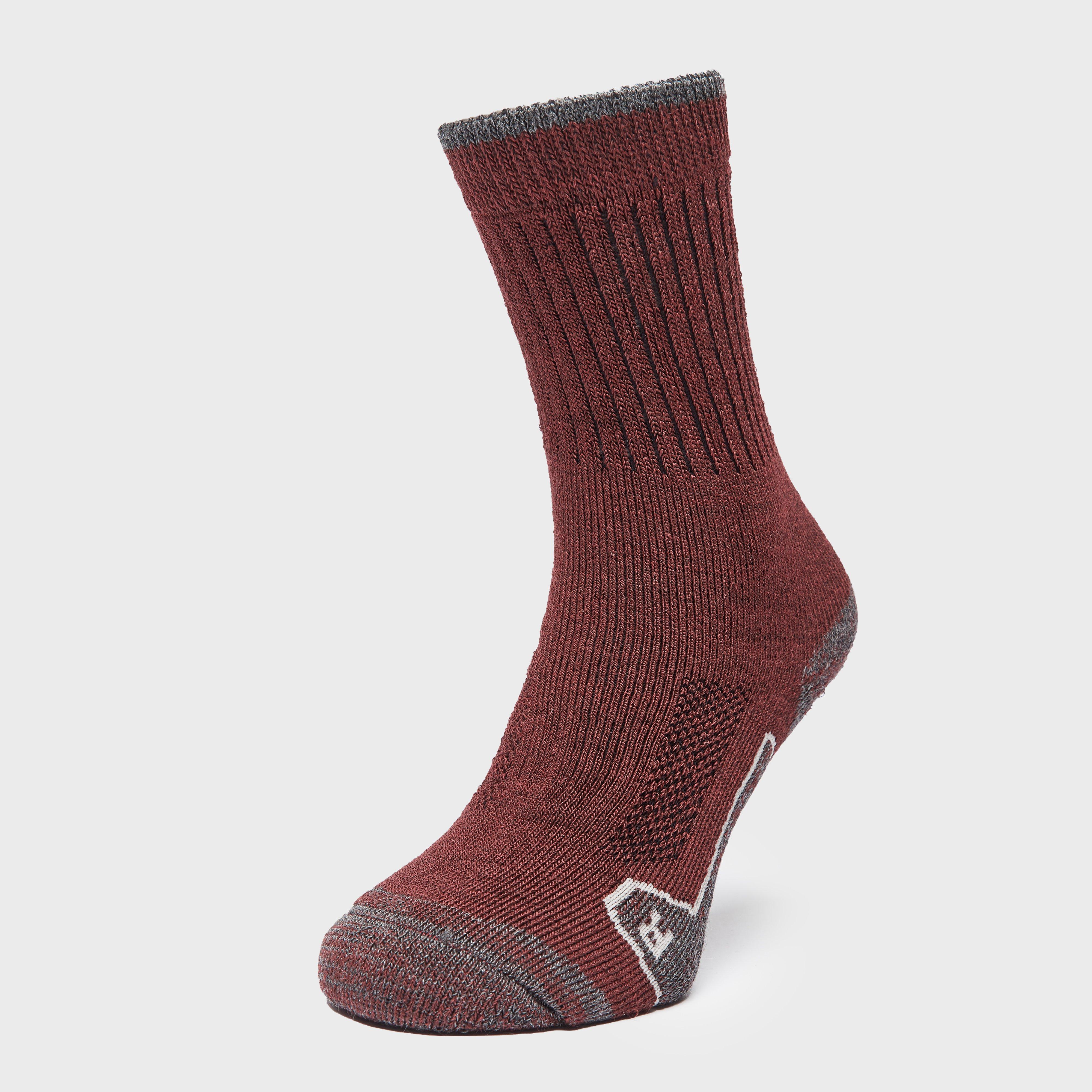 Brasher Womens Walker Socks - Red/wine/gry  Red/wine/gry