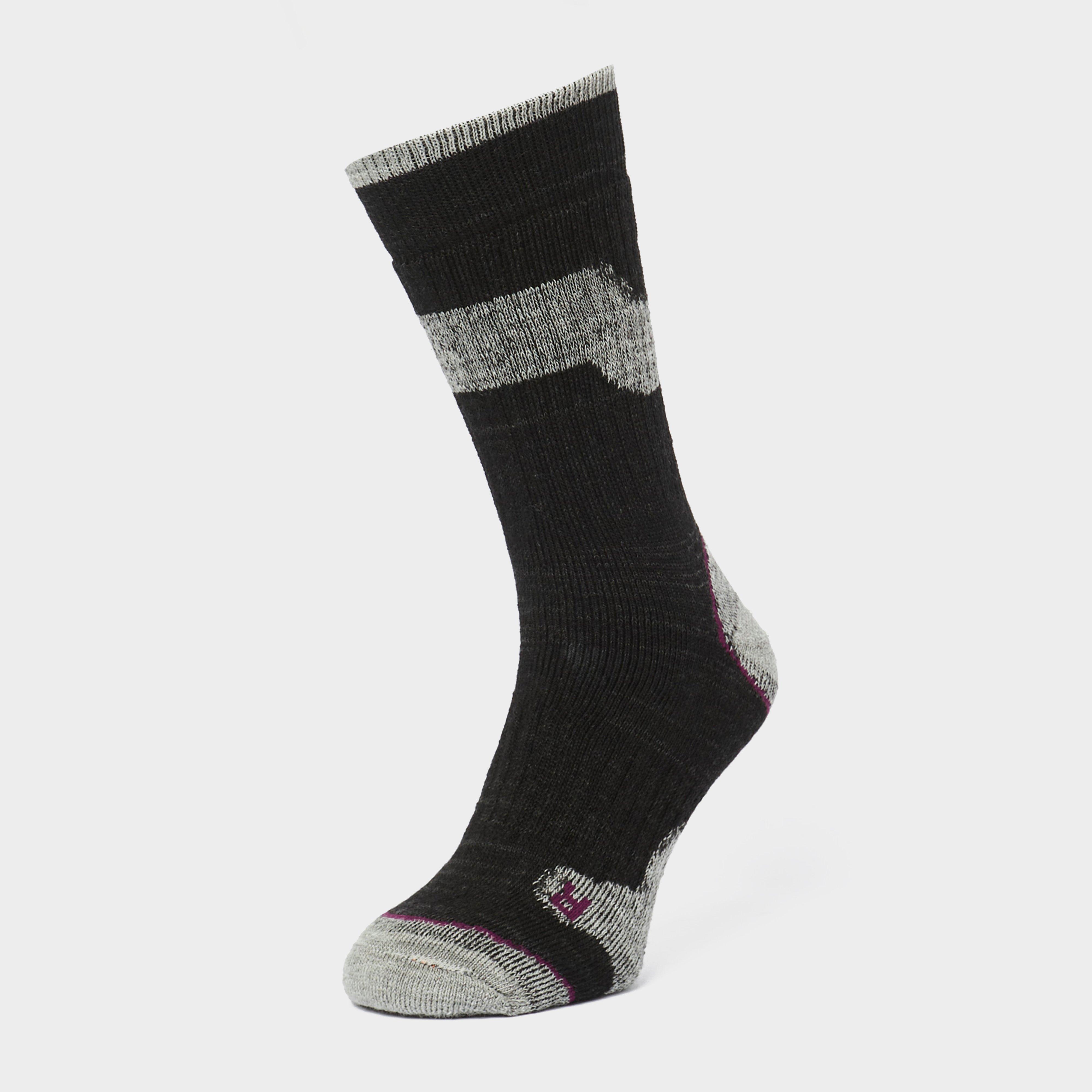 Brasher Womens Trekker Plus Socks - Black/pur  Black/pur