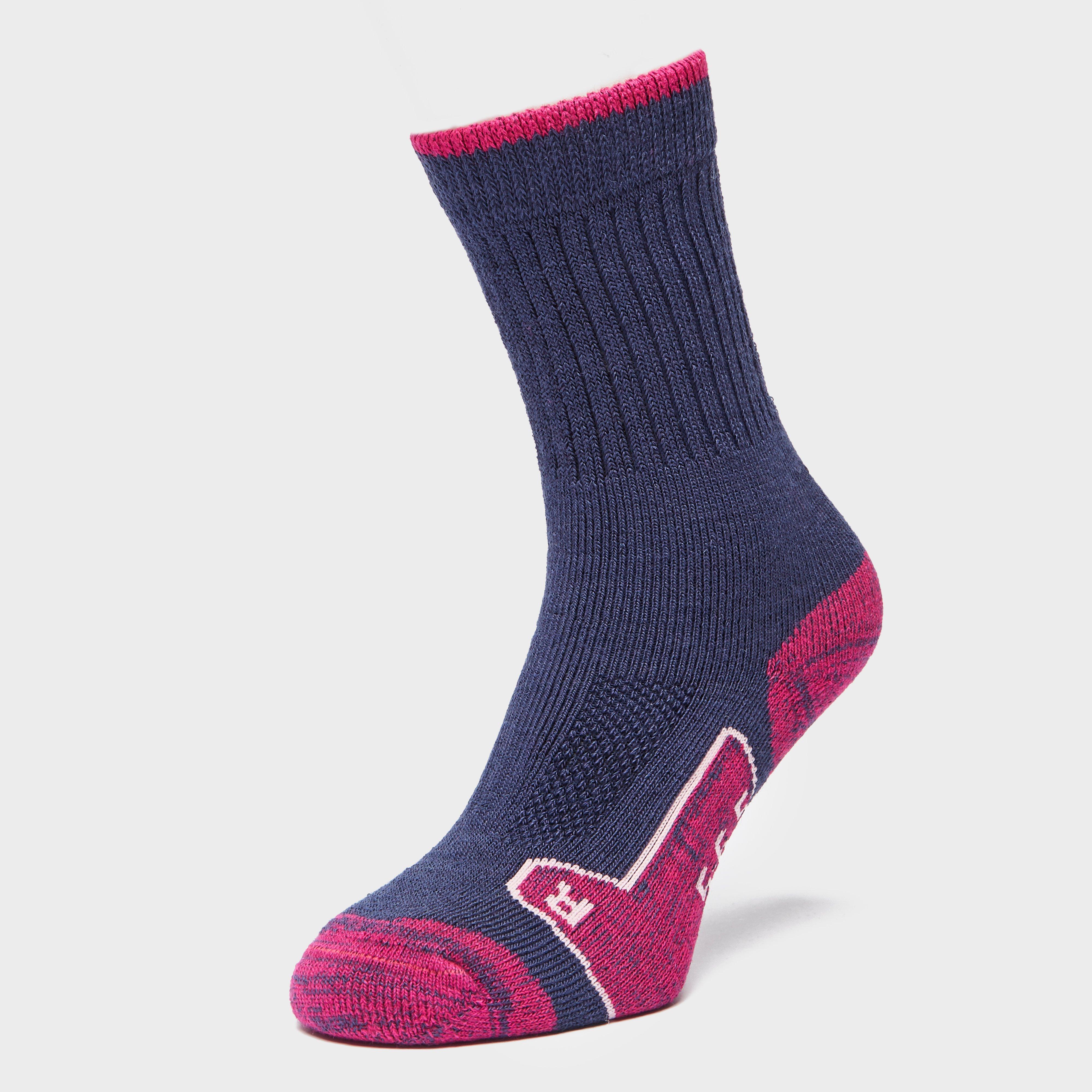 Brasher Womens Walker Socks - Purple/nvy/pnk  Purple/nvy/pnk