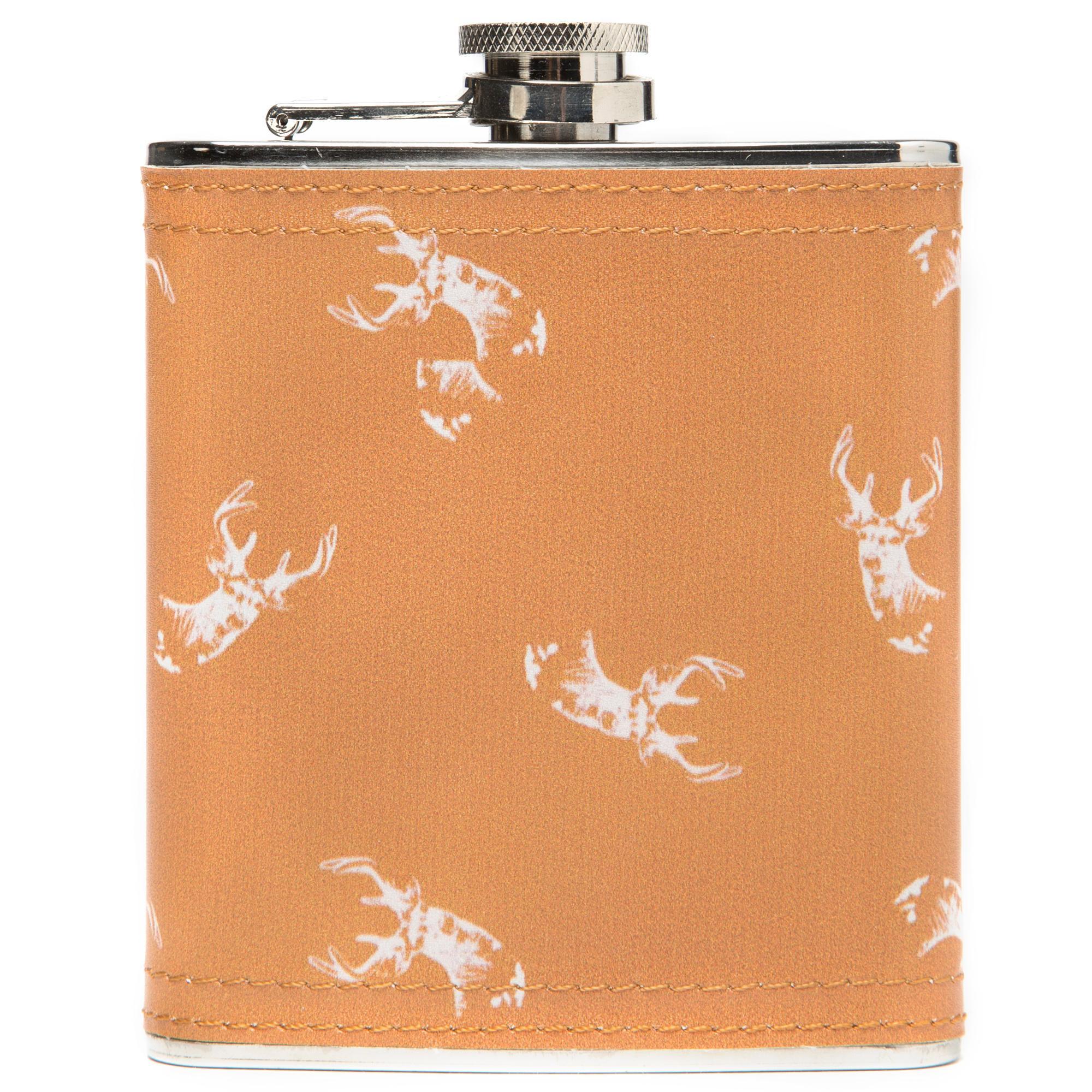 Eurohike 0.23L Stag Wrap Hip Flask, Orange