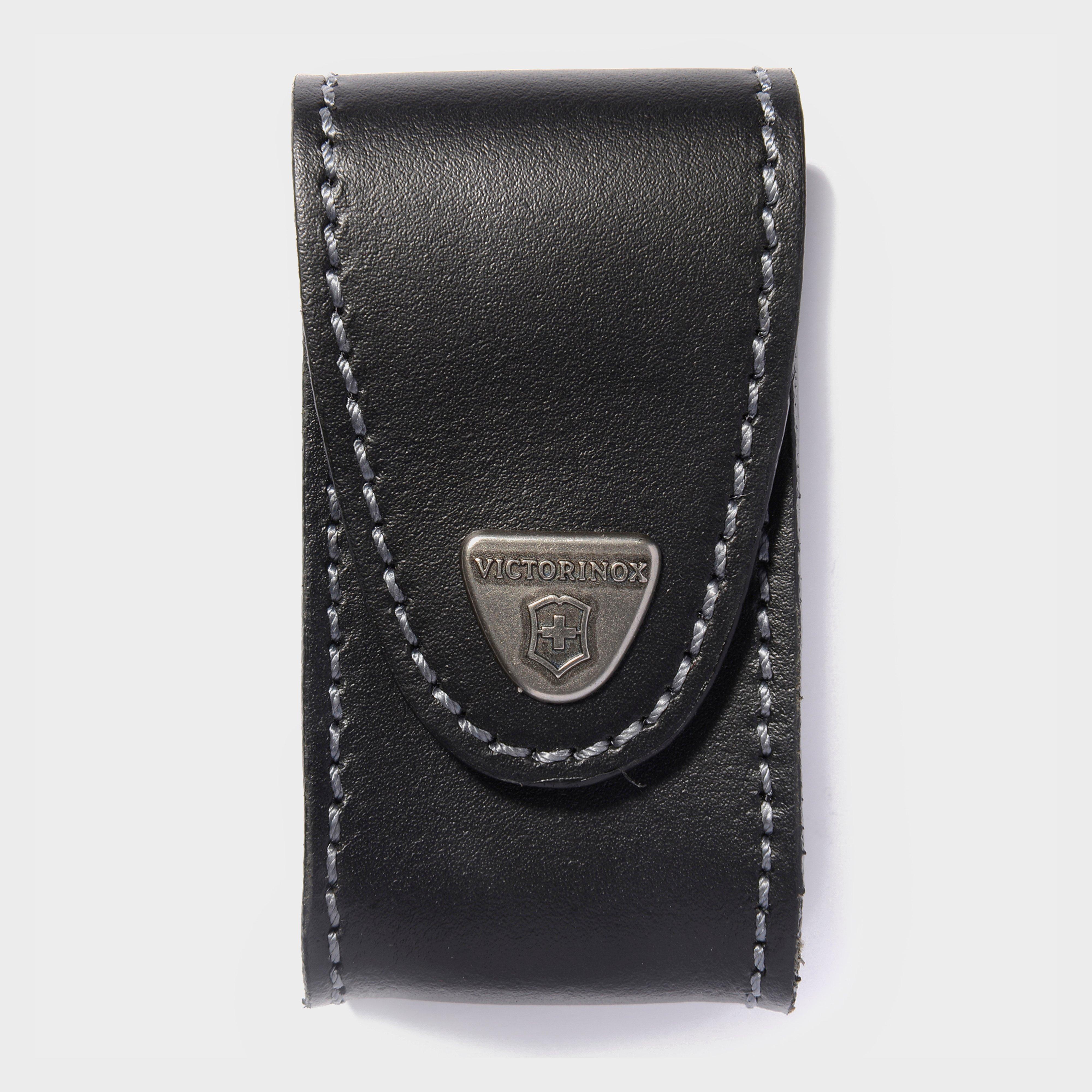 Victorinox Pocket Knife Leather Belt Pouch 5-8 Layers - Black/blk  Black/blk