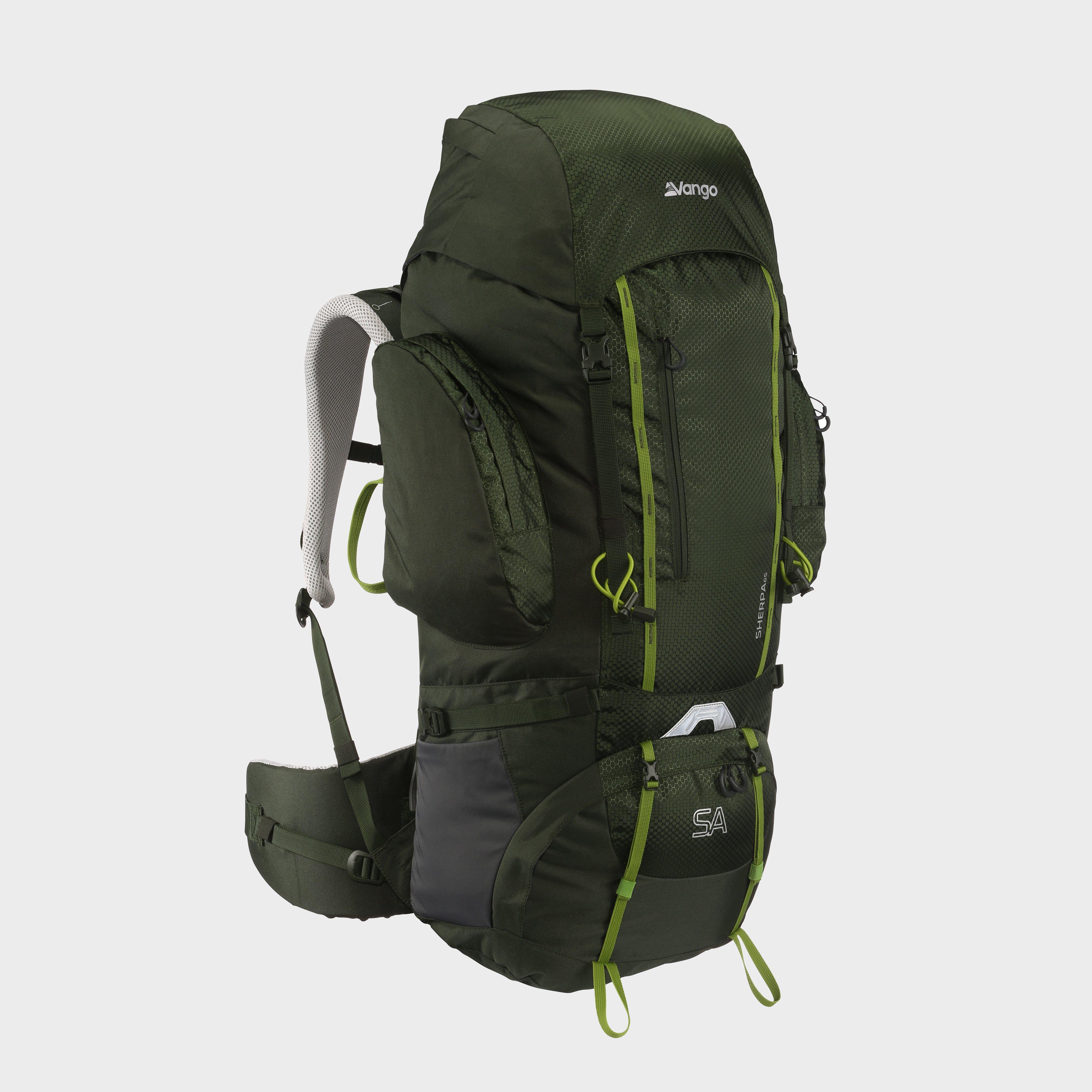 Vango Sherpa 65 Rucksack, Green