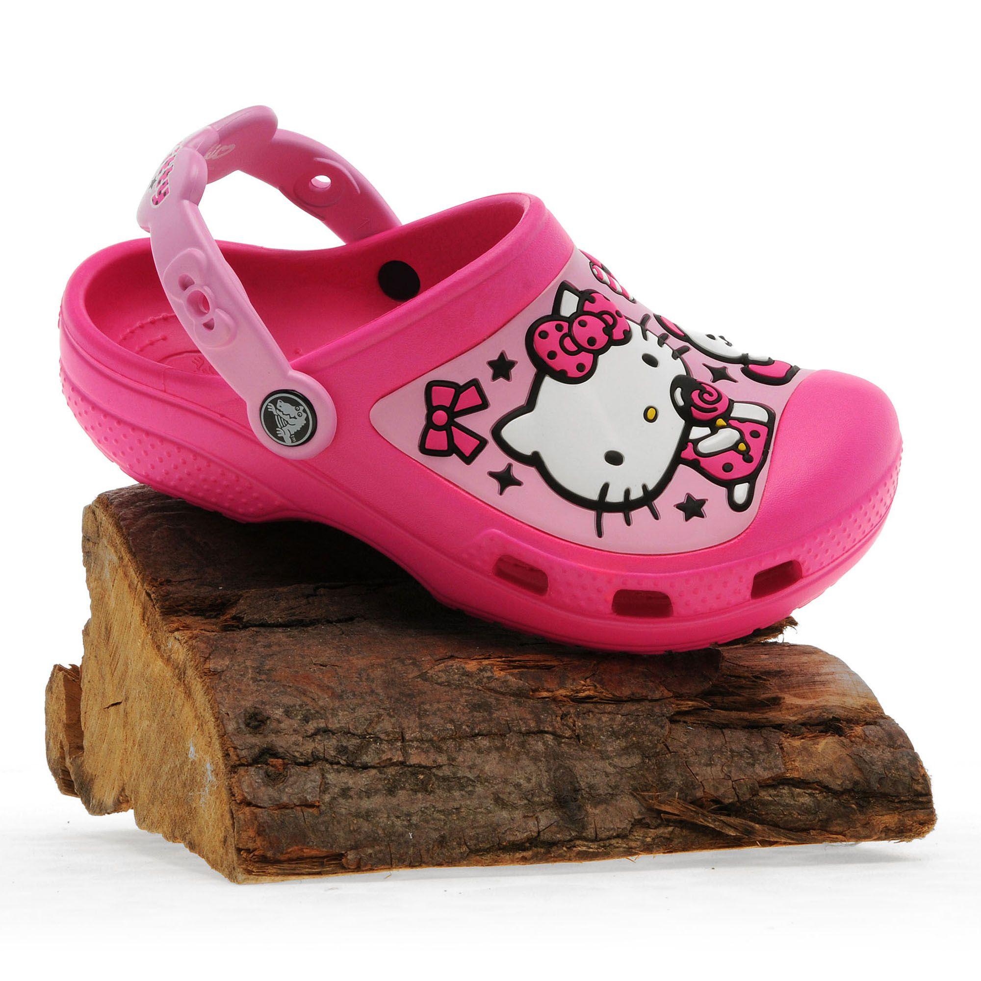 CROCS Girls' Creative Crocs Hello Kitty® Candy Ribbons Clog