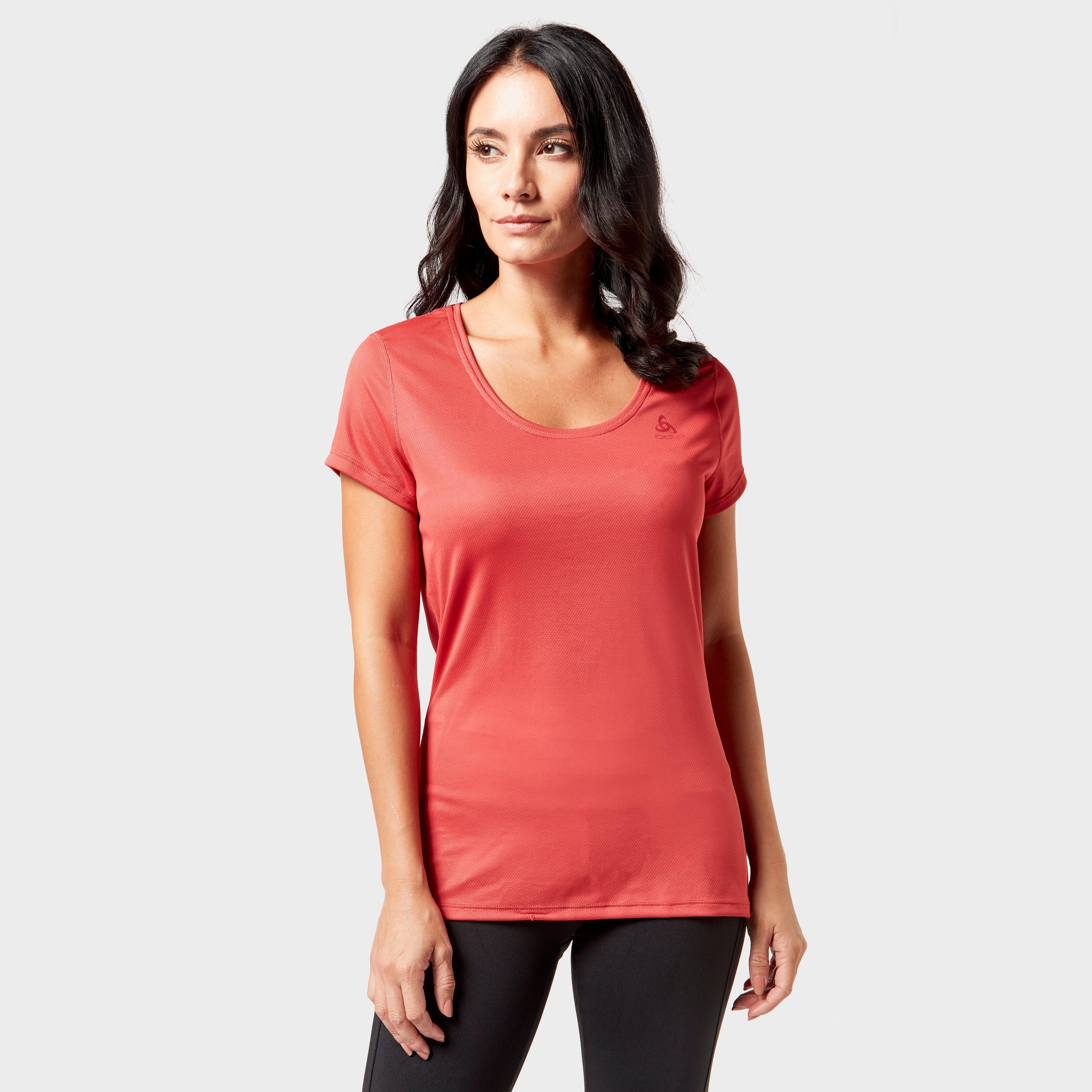 Odlo Women's Active F-Dry Light Baselayer T-Shirt, Pink
