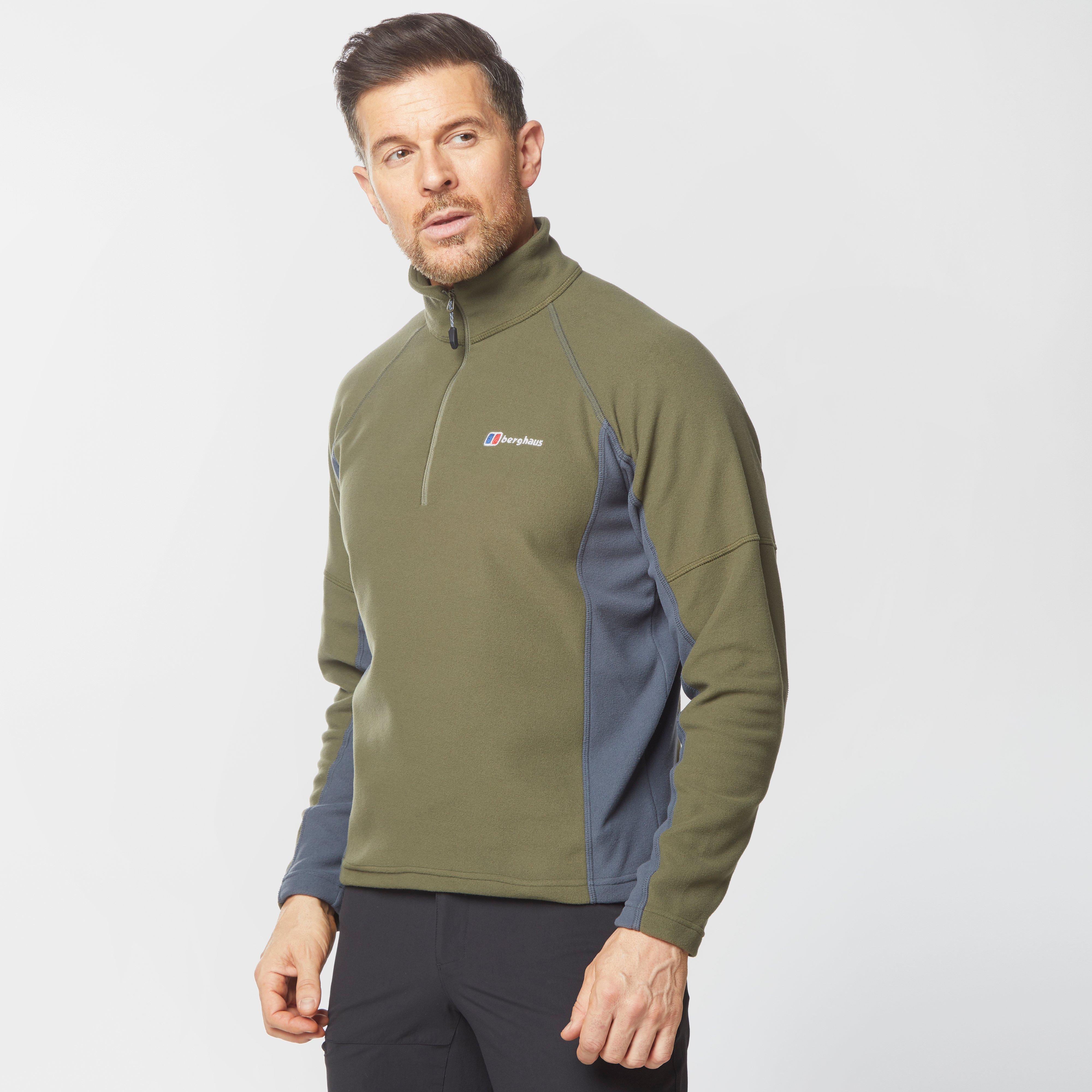 Berghaus Mens Hartsop Half-zip Micro Fleece - Khaki/khk$  Khaki/khk$