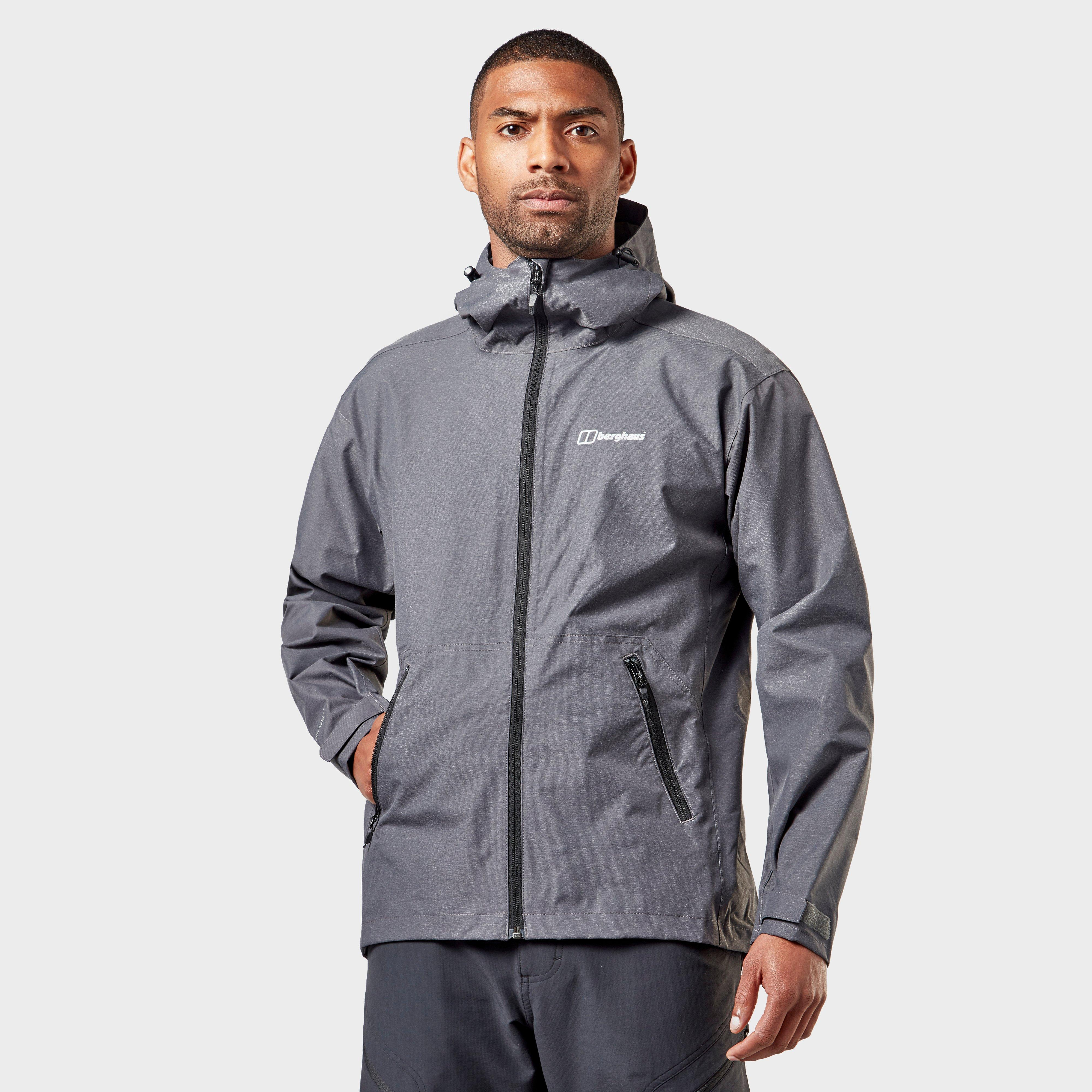 Berghaus Mens Stormcloud Optic Waterproof Jacket - Grey/grey  Grey/grey