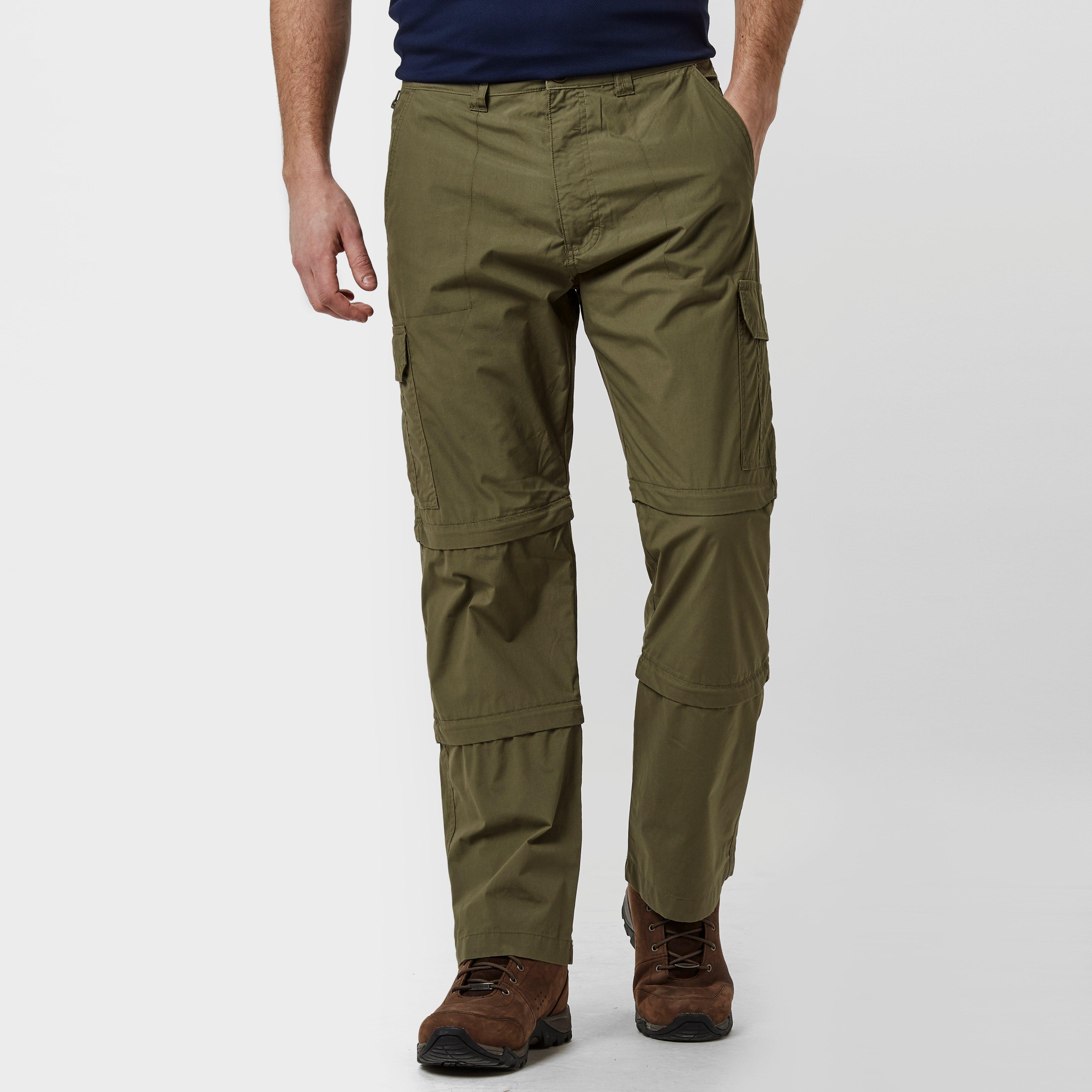Peter Storm Mens Ramble Double ZipOff Trousers (Short) Khaki