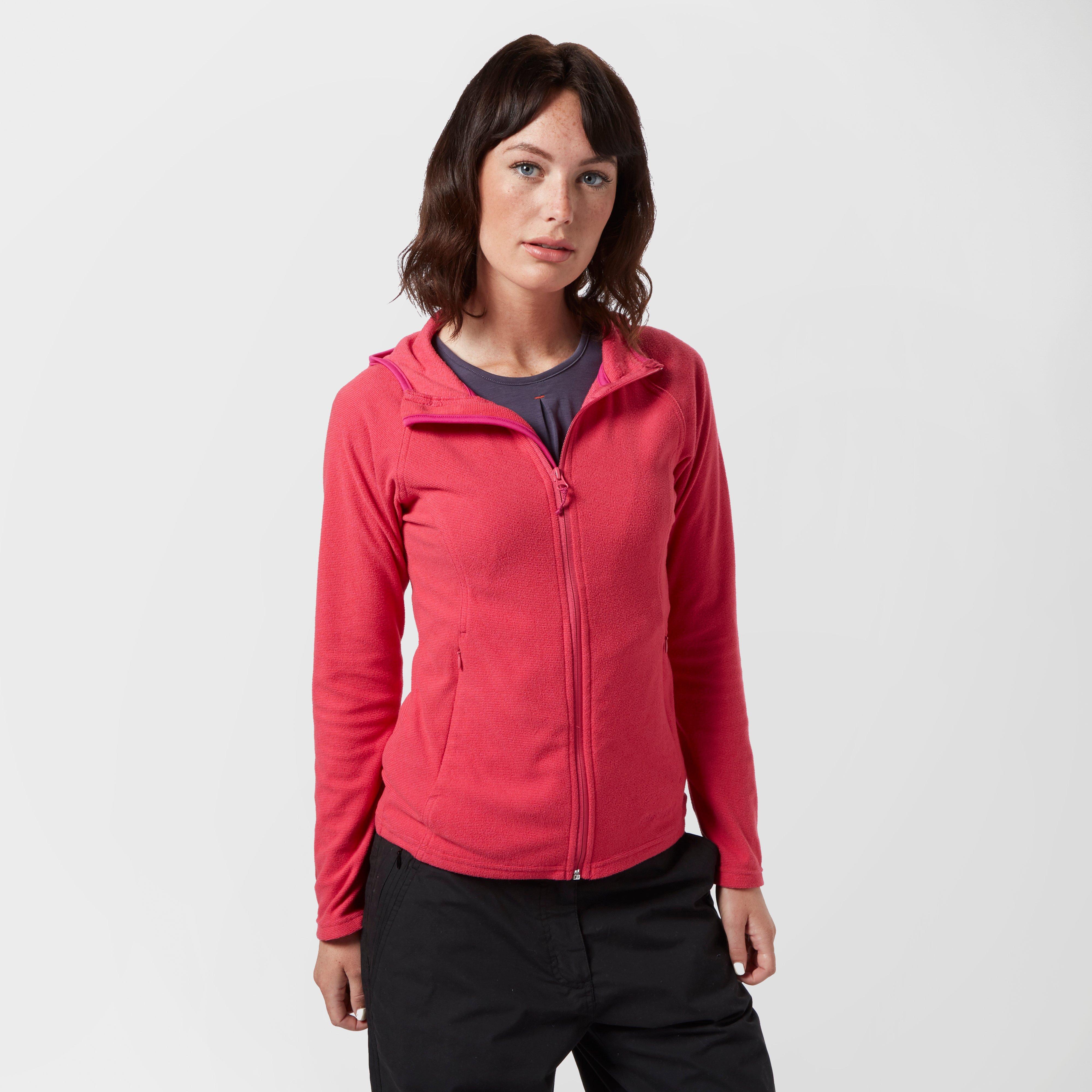 Peter Storm Womens Micro Striped Fleece Hoody Pink