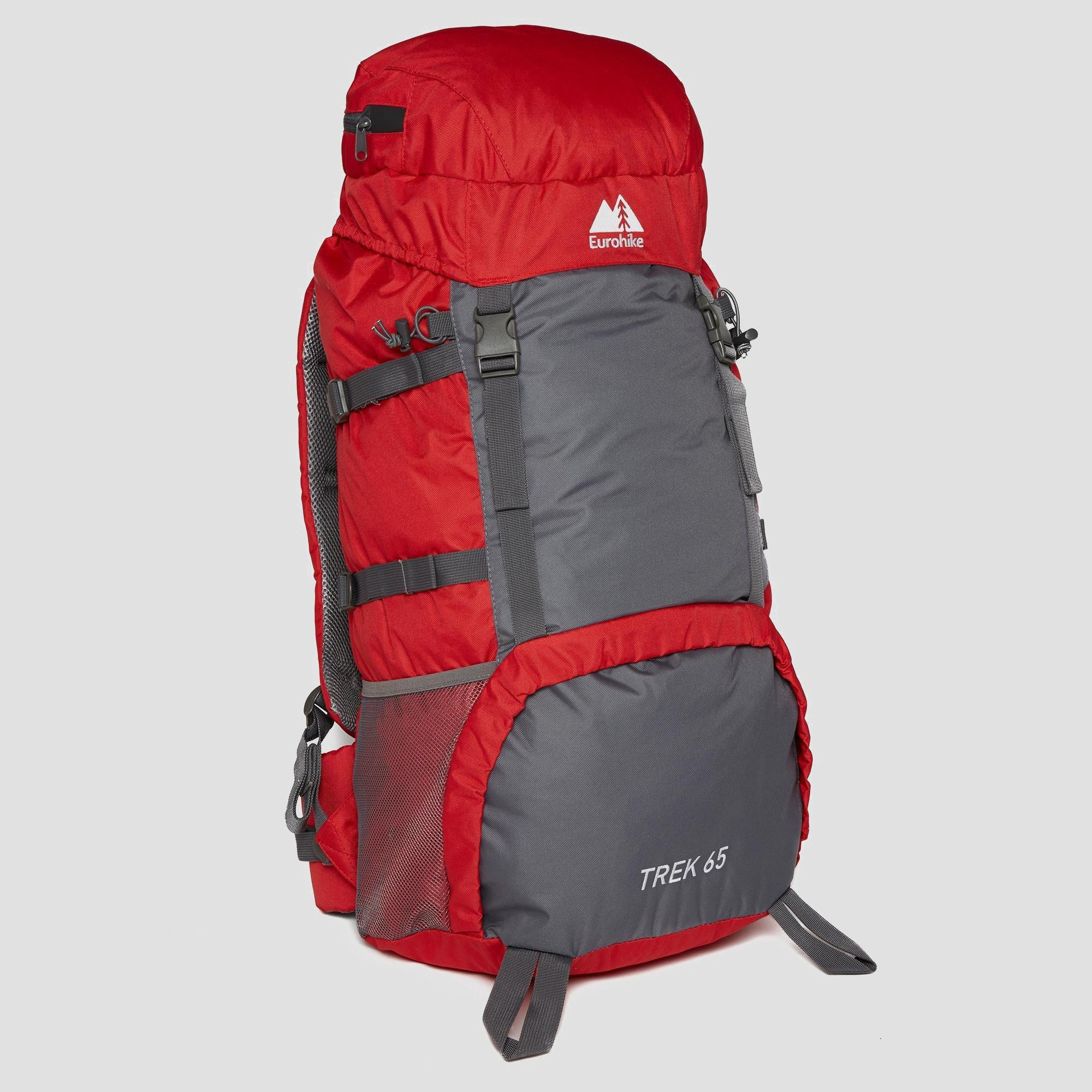 Eurohike Trek 65L Backpack - Red, Red