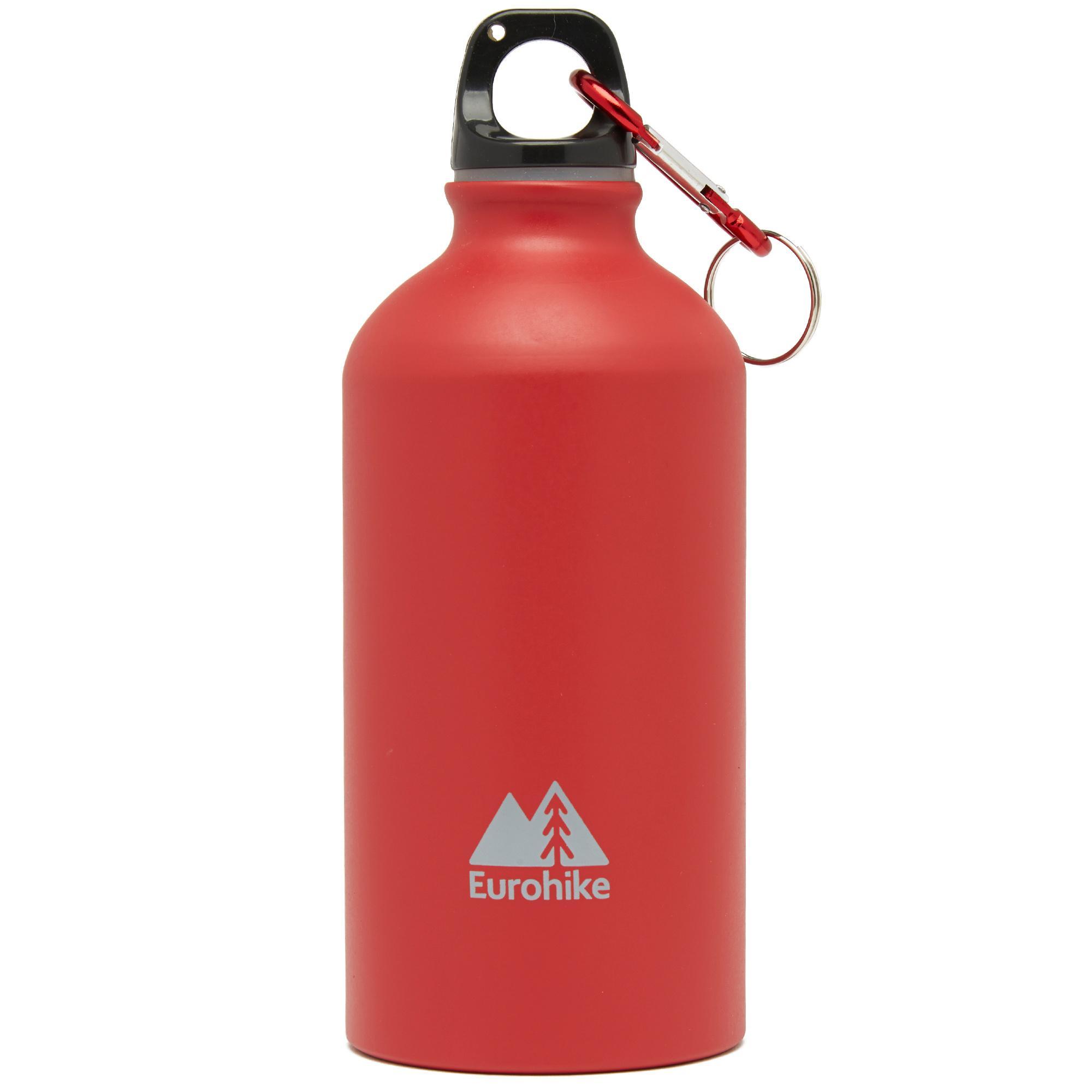 Eurohike Aqua 0.5L Aluminium Water Bottle, RED/RED