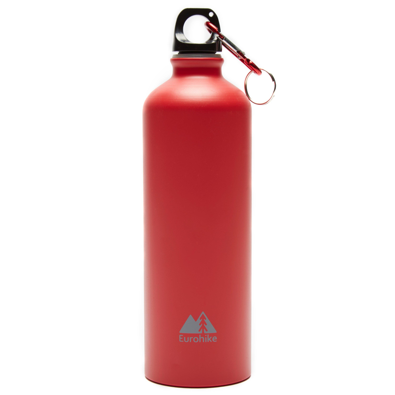 Eurohike Aqua 0.75l Aluminium Bottle - Red/red  Red/red