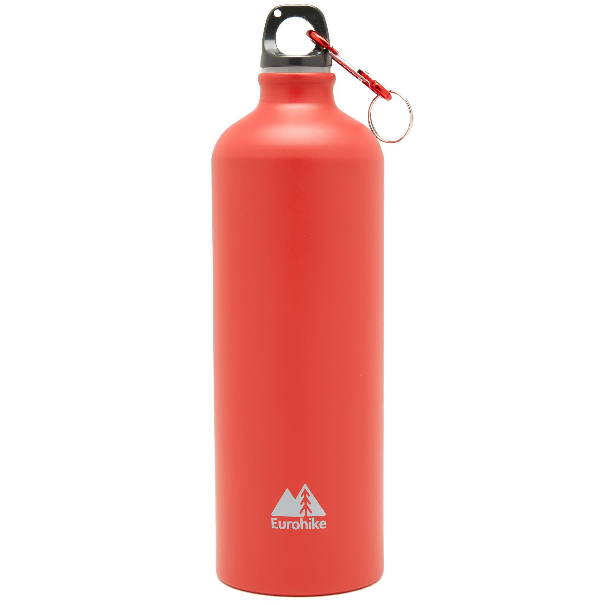 Eurohike Aqua 1L Aluminium Bottle, RED/RED