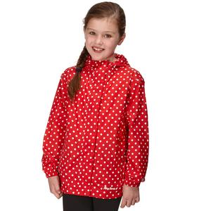 PETER STORM Girl's Packable Patterned Waterproof Jacket