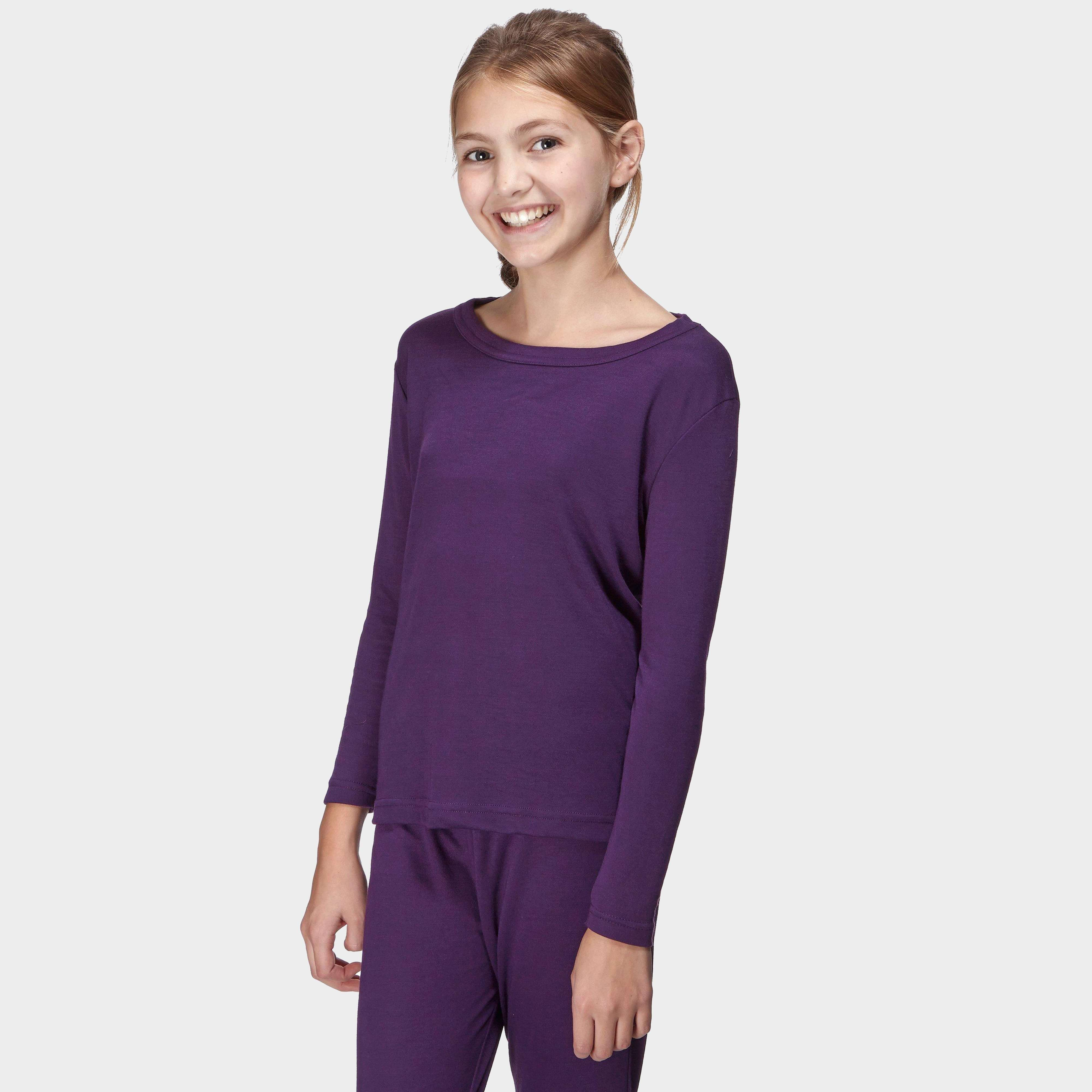 PETER STORM Girls' Long Sleeve Thermal Crew Baselayer Top