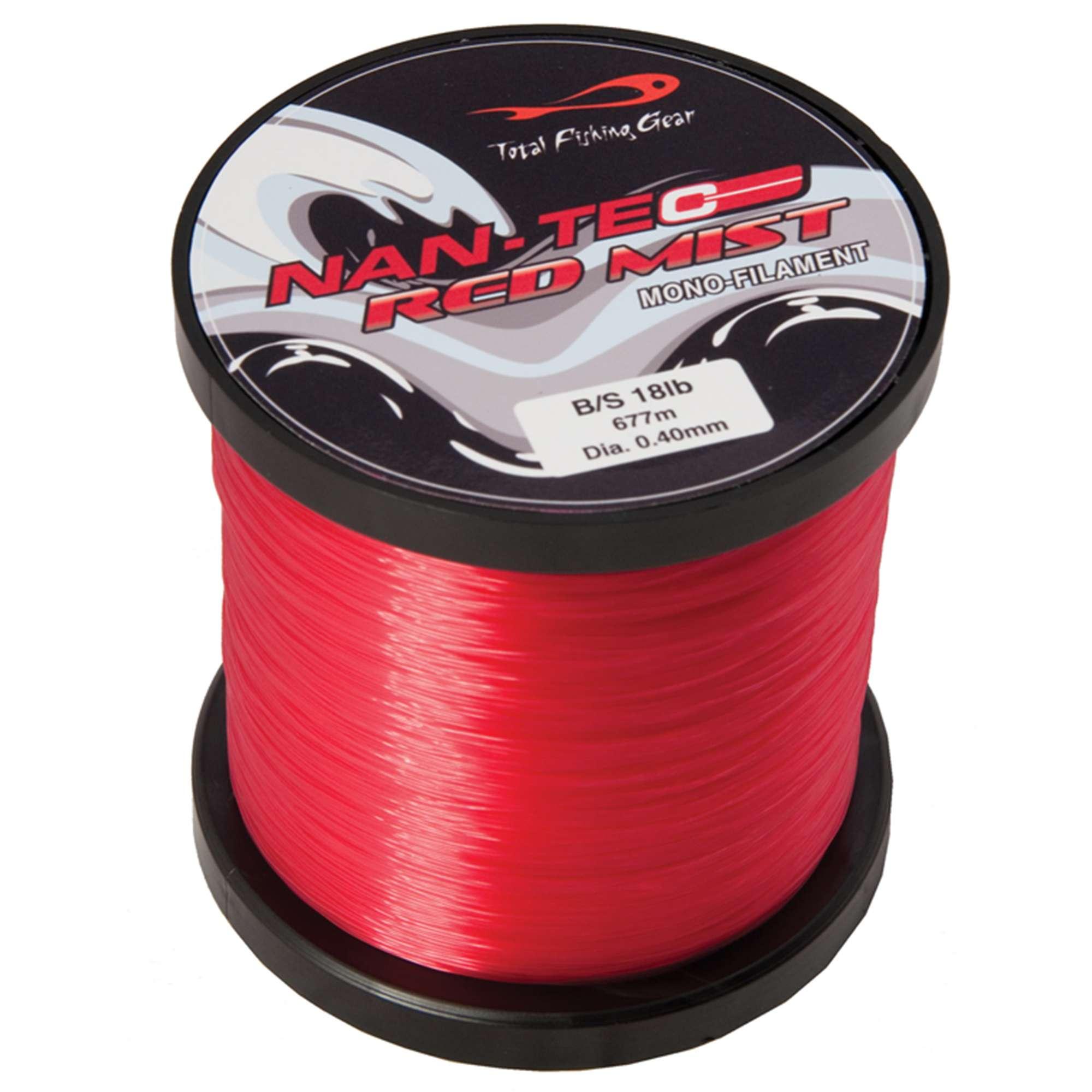 TFG Nan-Tec Red Mist Mono Filament Line 18lb