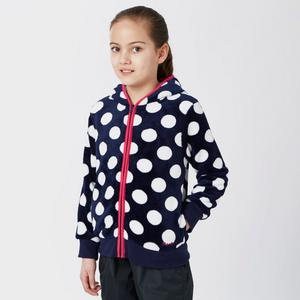 PETER STORM Girls' Dotty Full Zip Fleece
