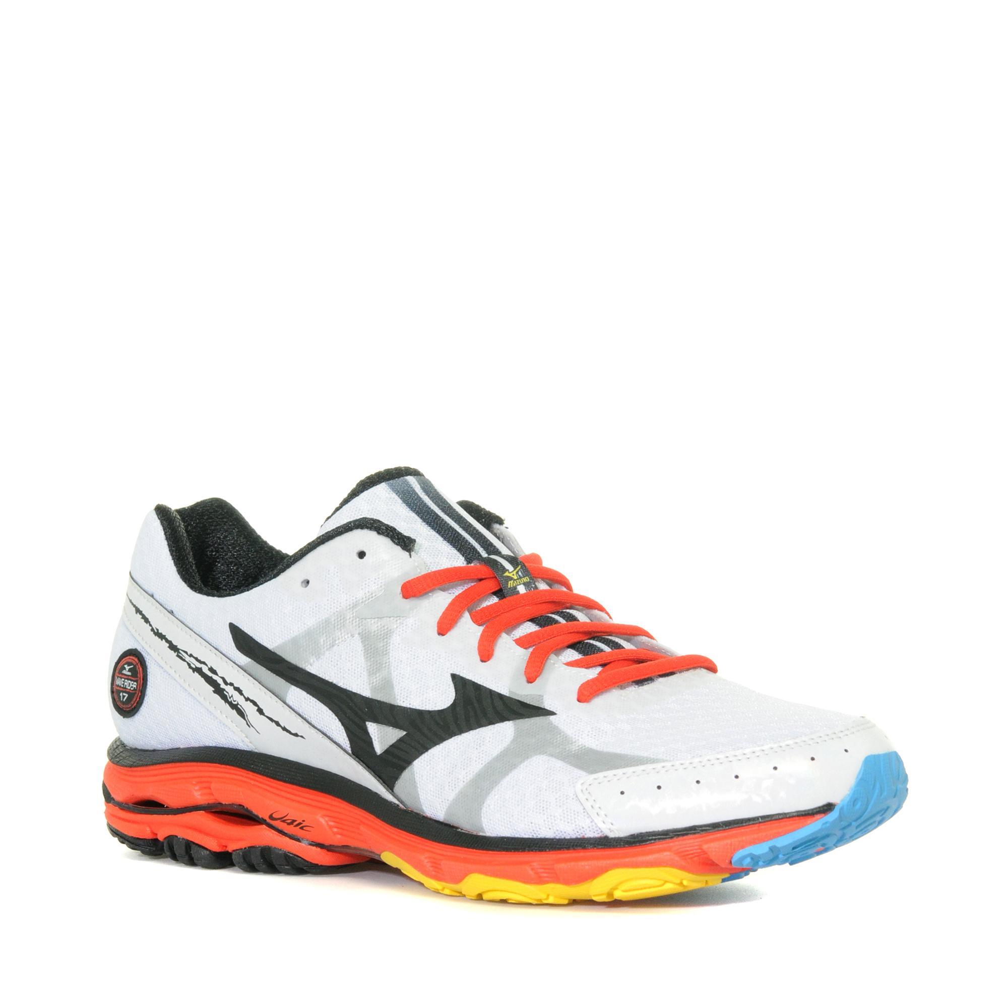 Mizuno Men's Wave Rider 17 Trail Running Shoe, White