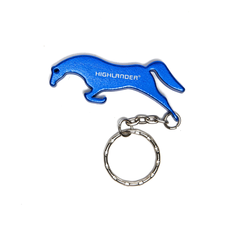 Highlander Aluminium Keyring, Blue