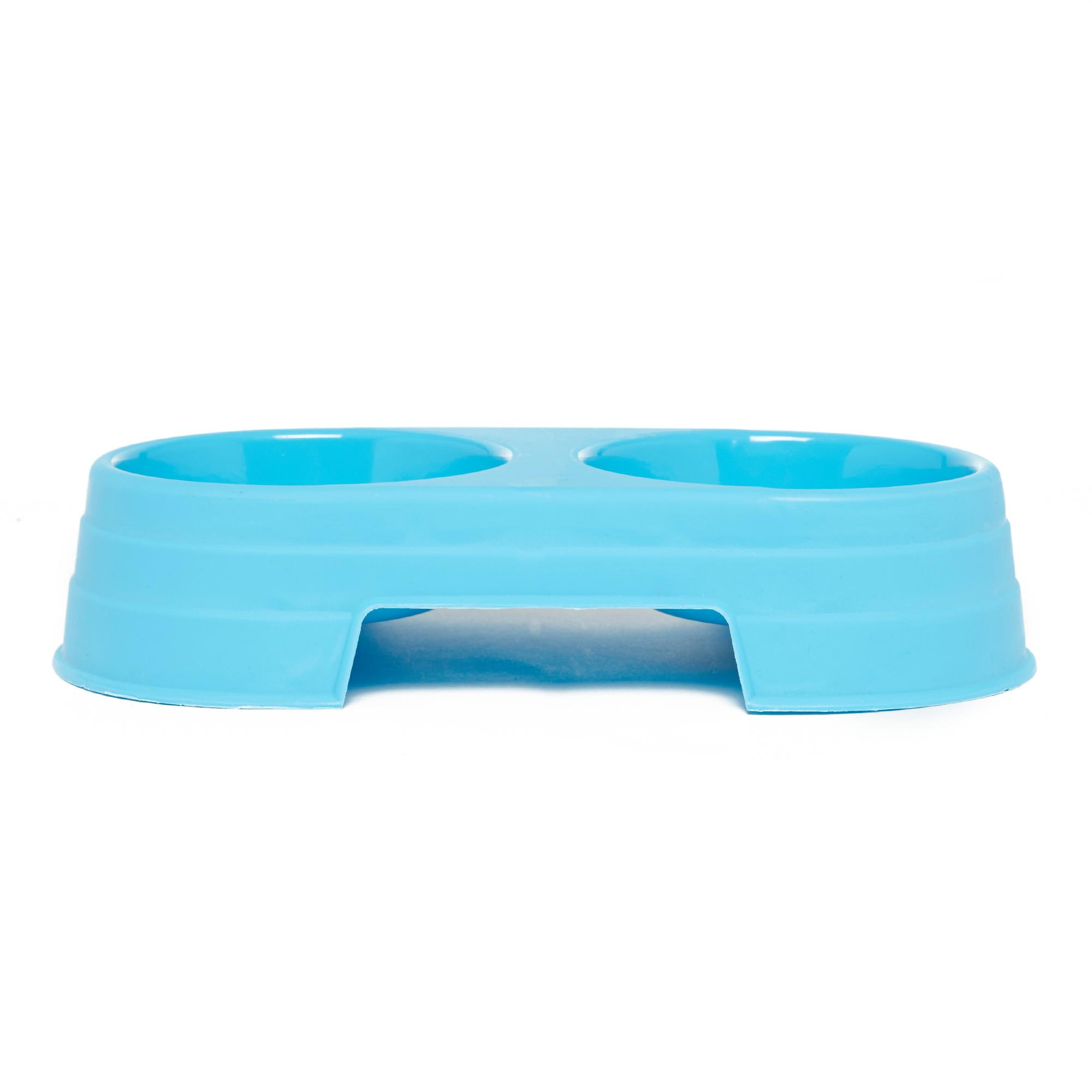 Image of Boyz Toys Double Food And Water Bowl, Blue