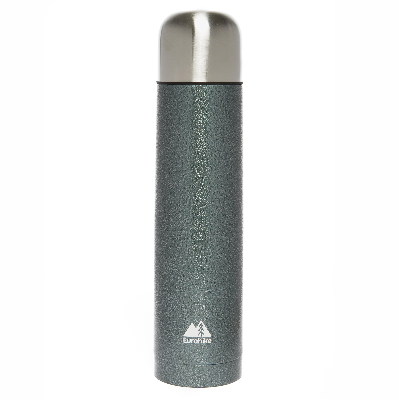 Eurohike 1 Litre Hammertone Vacuum Flask Grey
