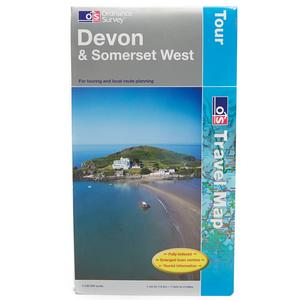 ORDNANCE SURVEY Travel Devon & Somerset West Tour Map