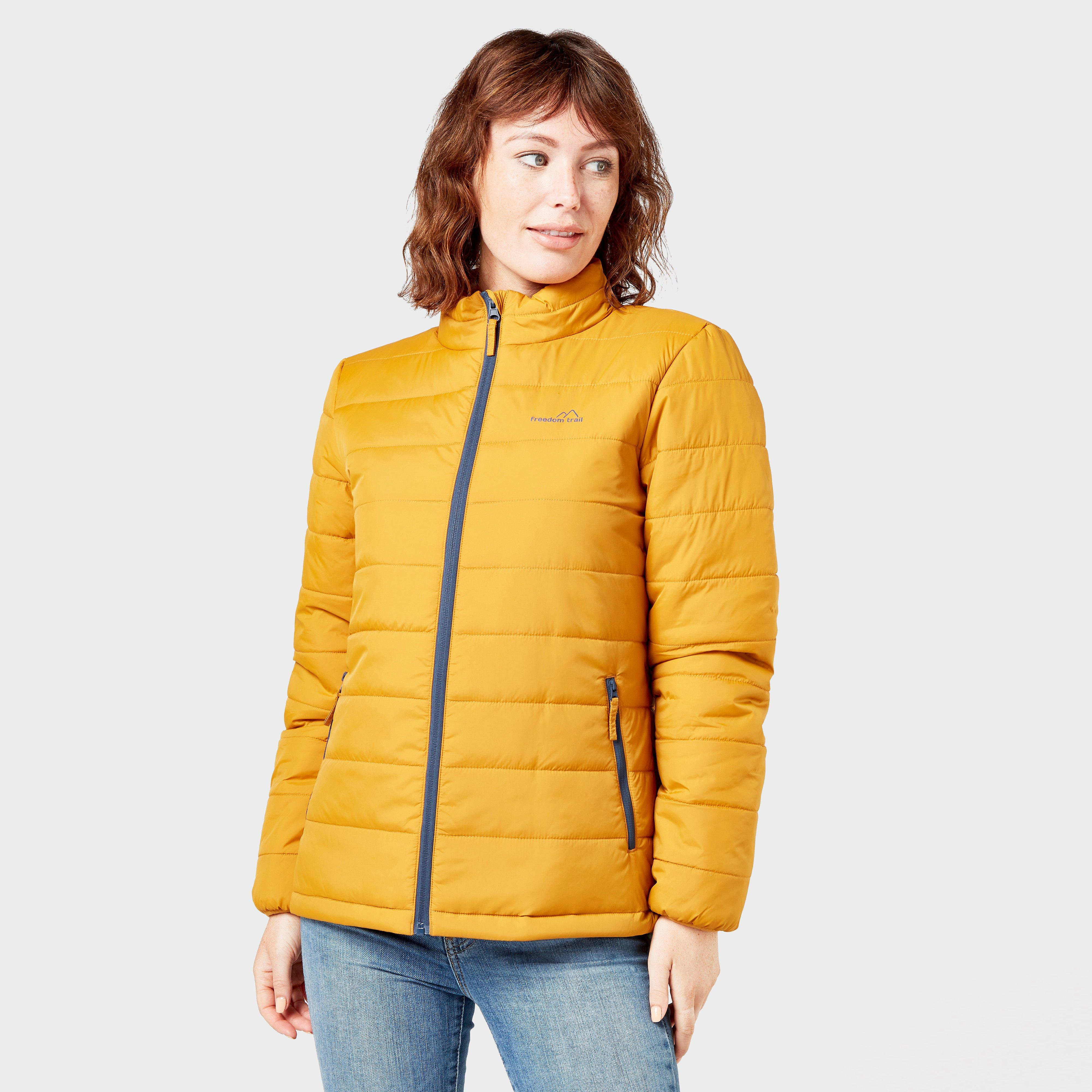 Freedom Trail Women's Blisco Padded Jacket, Yellow