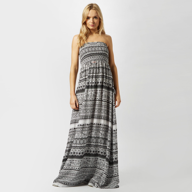 Animal Women's Lucindi Printed Woven Maxi Dress, Black