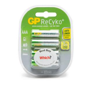 GP BATTERIES Recyko AAA Rechargeable Batteries (4 Pack)