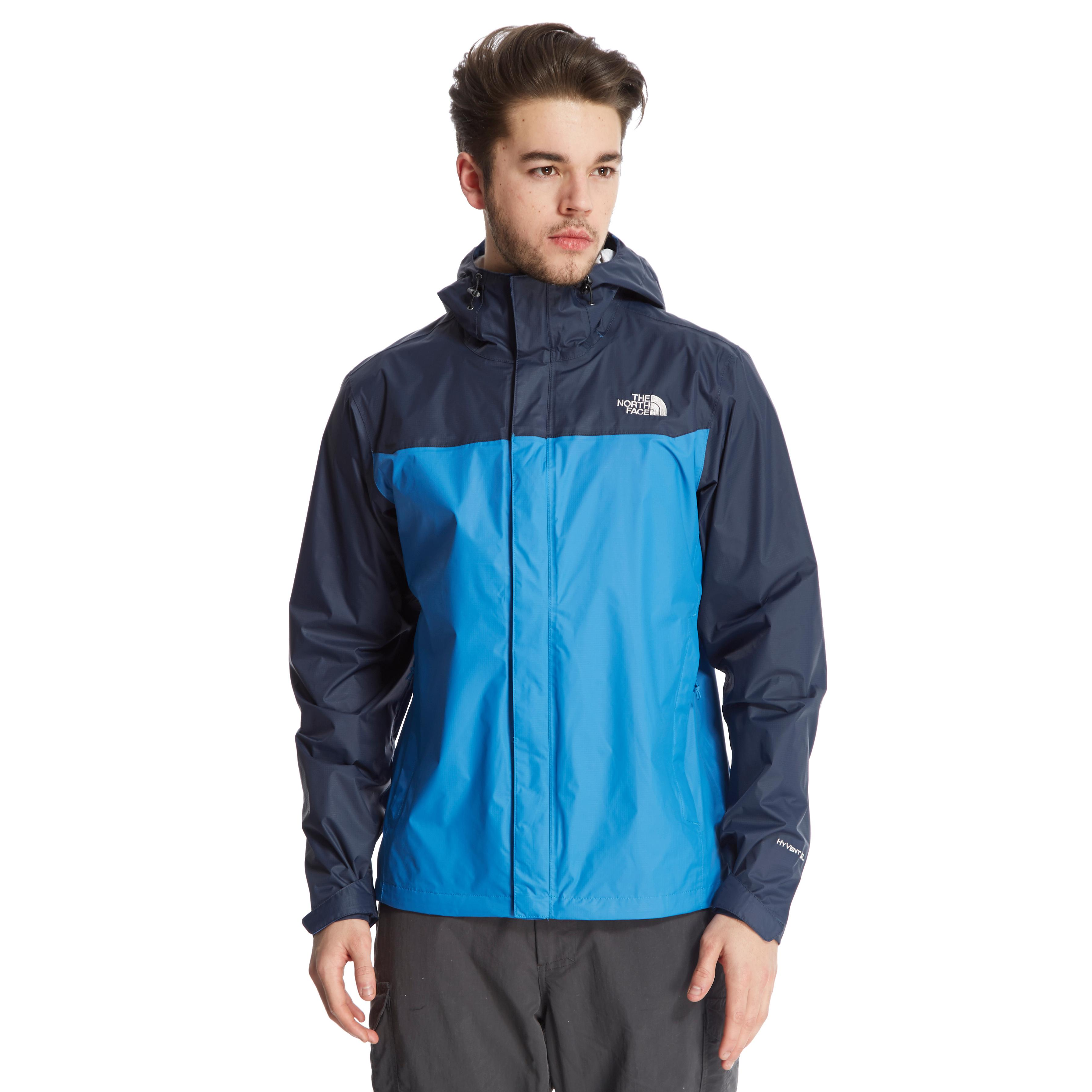 the north face men s venture hyvent jacket  blue at