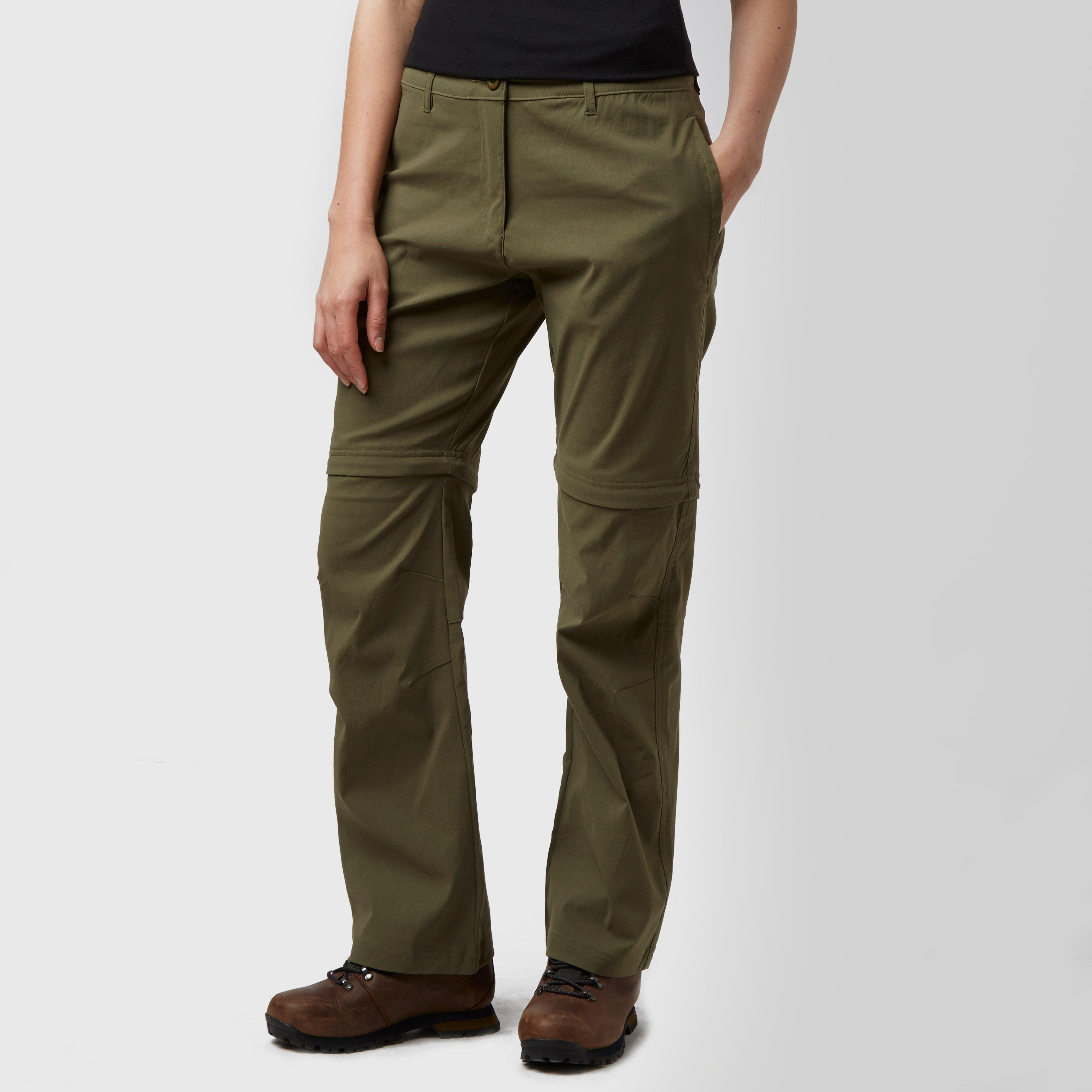 Peter Storm Womens Stretch Convertible Zip Off Trousers Khaki