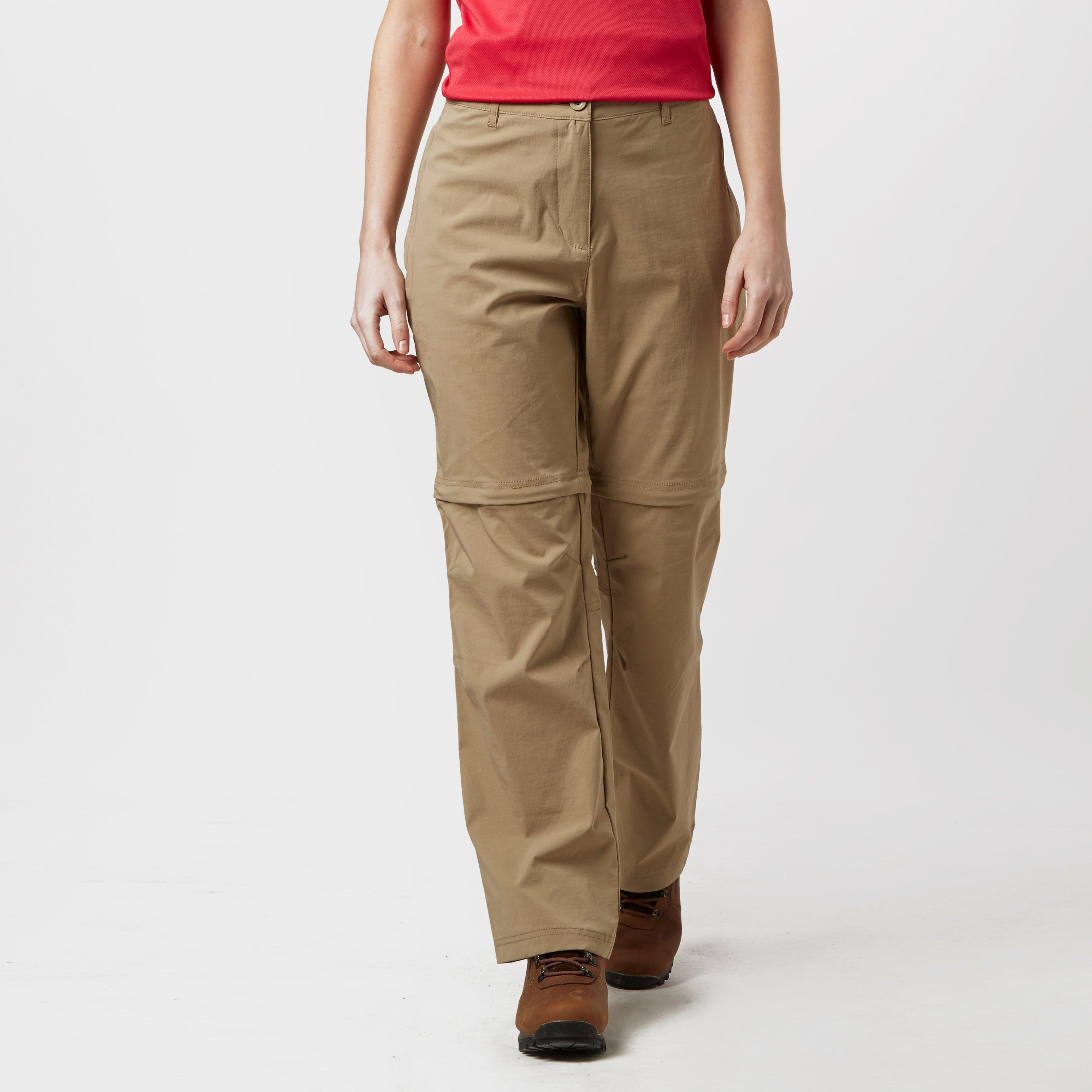 Peter Storm Womens Stretch Convertible Zip Off Trousers Beige